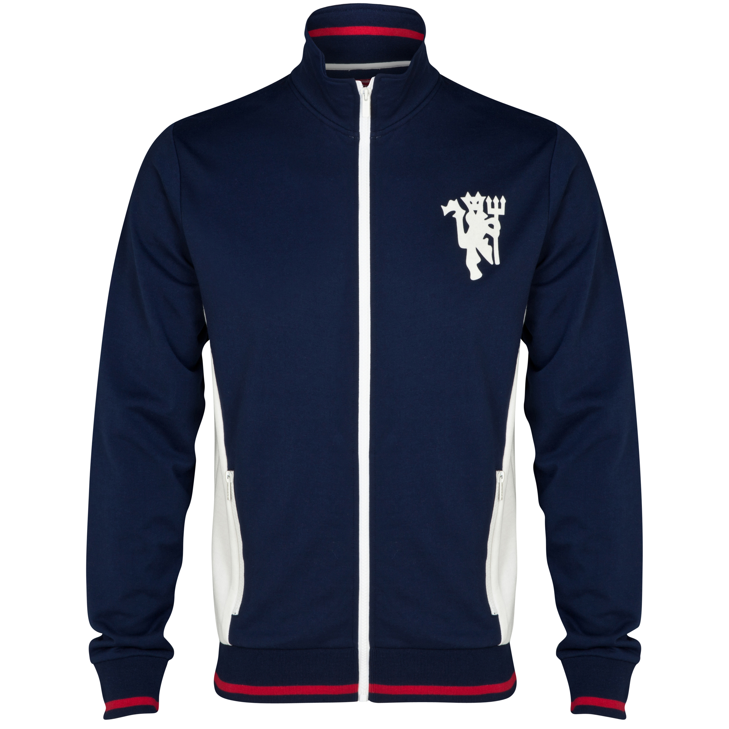 Manchester United Heritage Retro Zip Through Jacket - Older Boys Navy