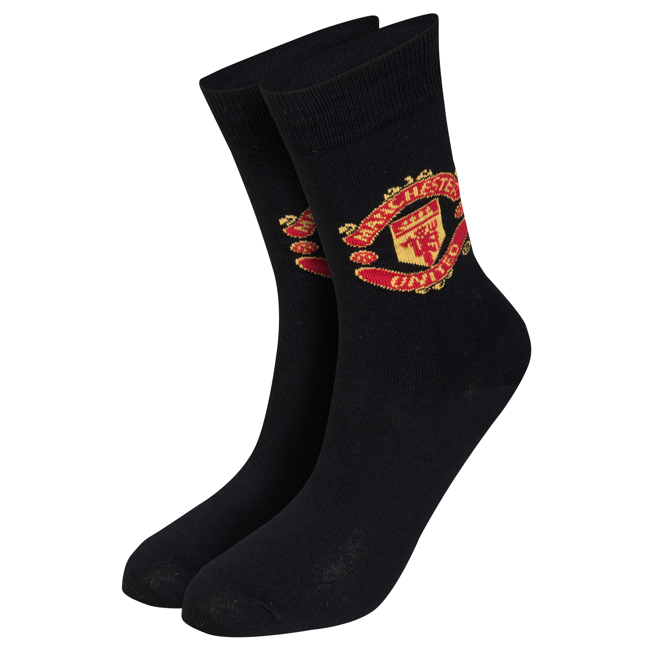 Manchester United Crest Socks - Kids Black
