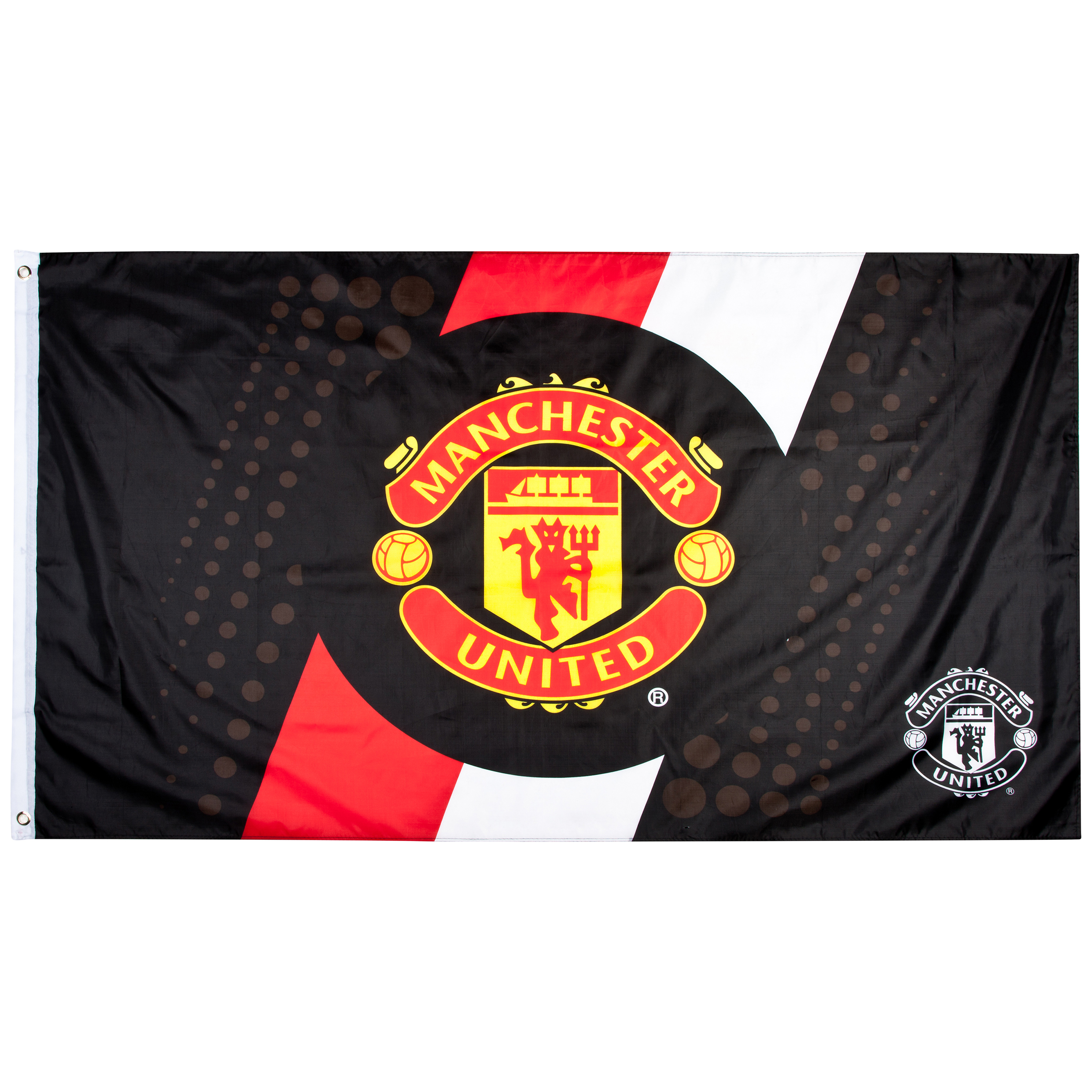 Manchester United Stripe Flag - 5ft x 3ft