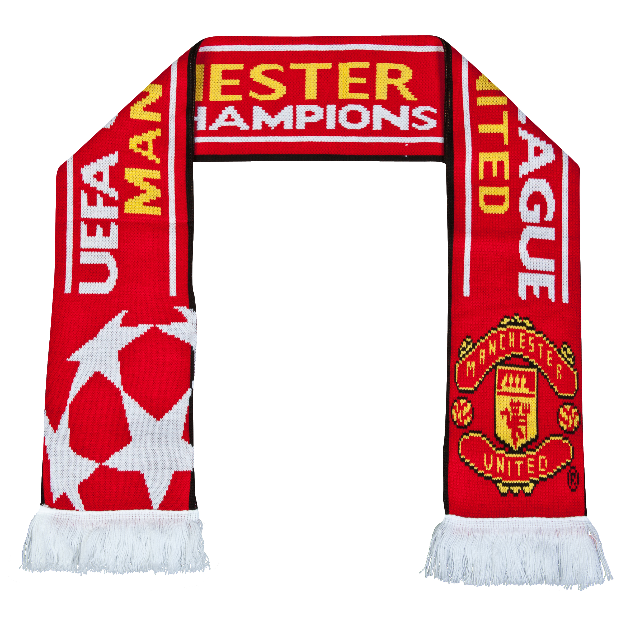 Manchester United UEFA Champions League Jacquard Scarf - Red