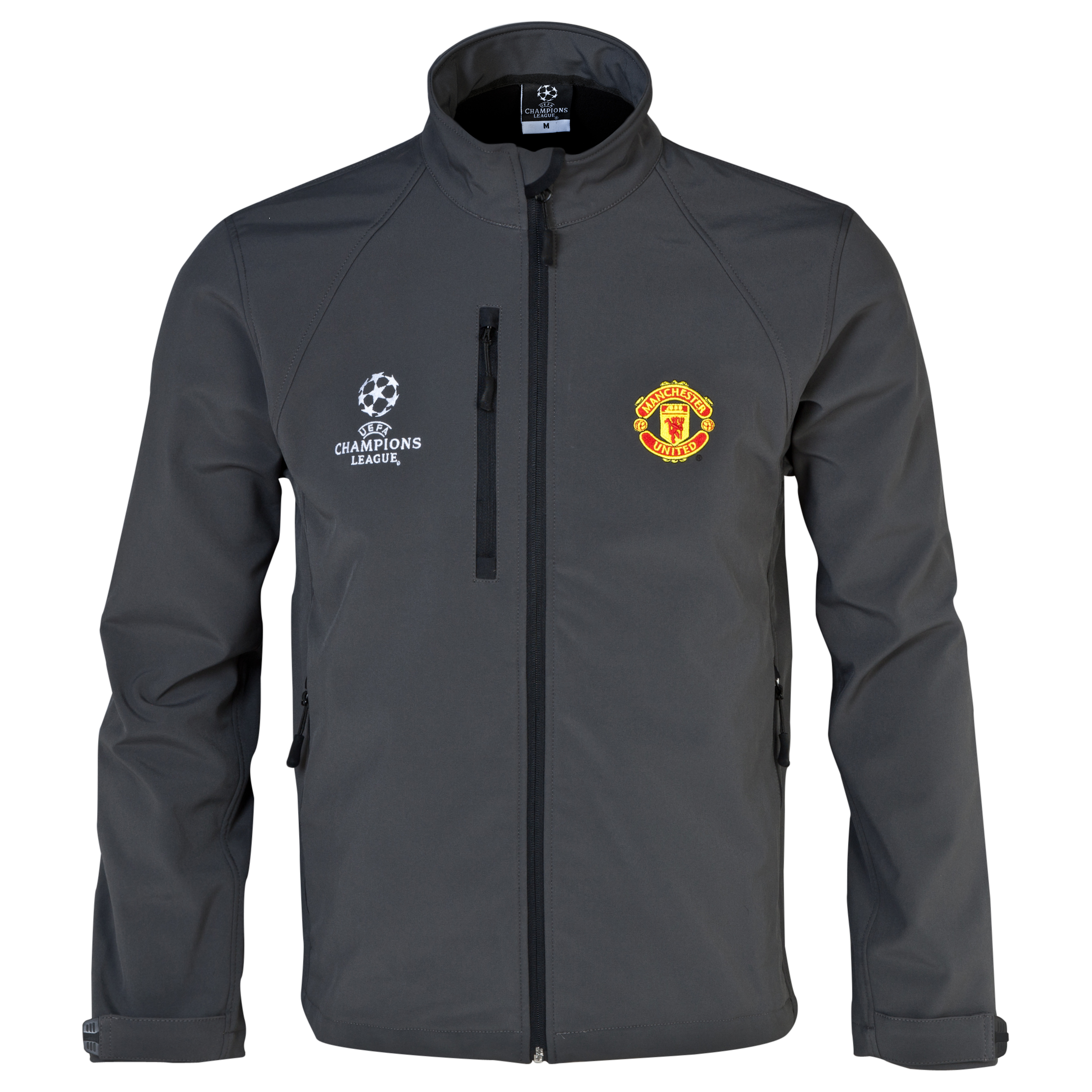 Manchester United UEFA Champions League Soft Shell Jacket - Mens Charcoal