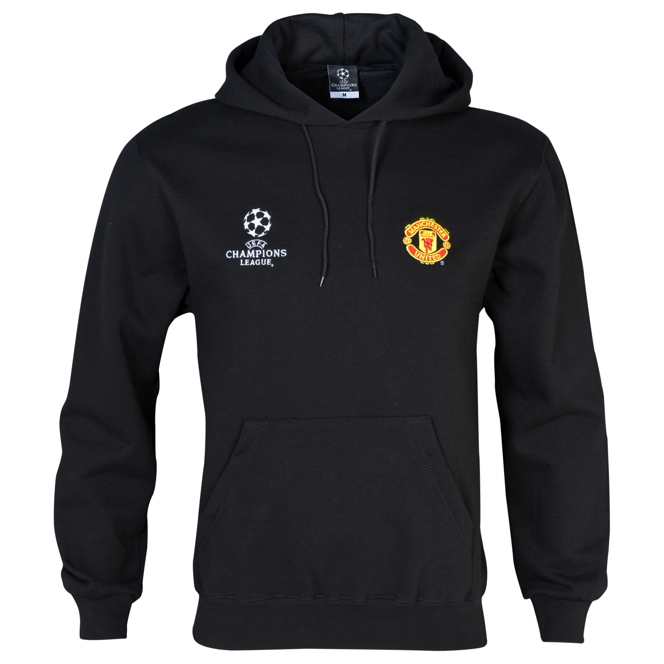 Manchester United UEFA Champions League Hoody - Mens Black