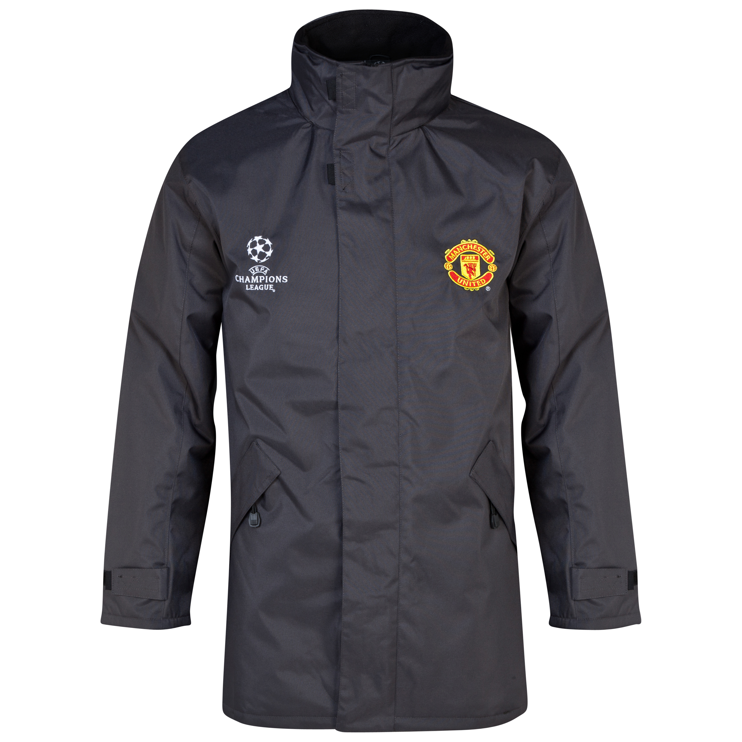 Manchester United UEFA Champions League Heavy Jacket - Mens Charcoal