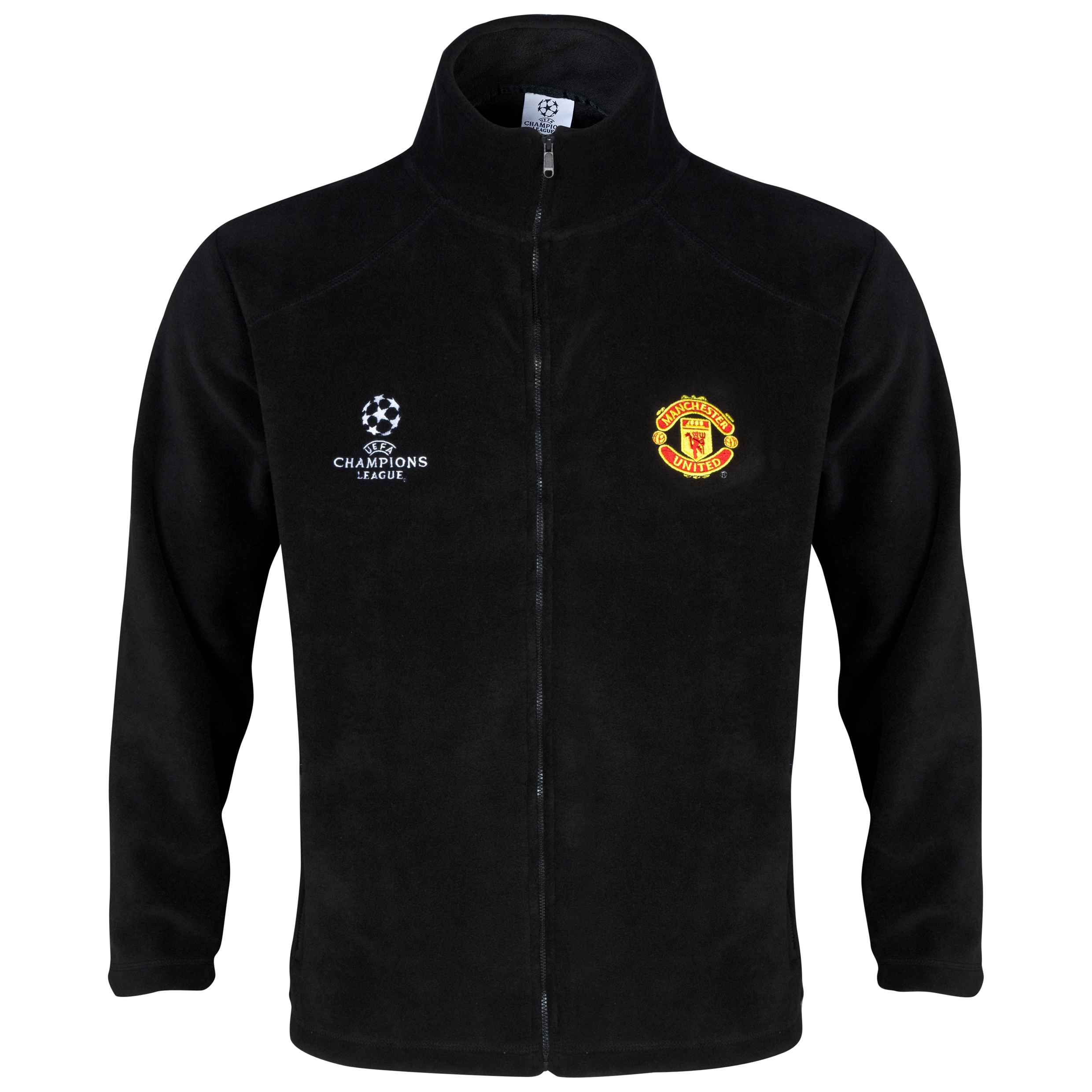 Manchester United UEFA Champions League Fleece Jacket - Mens Black