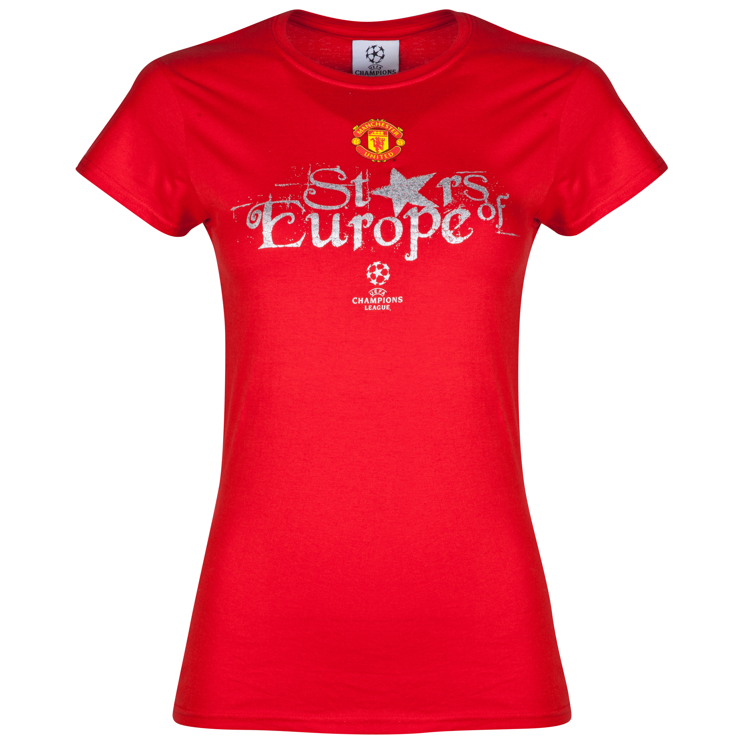 Manchester United UEFA Champions League Stars of Europe T-Shirt - Womens Red