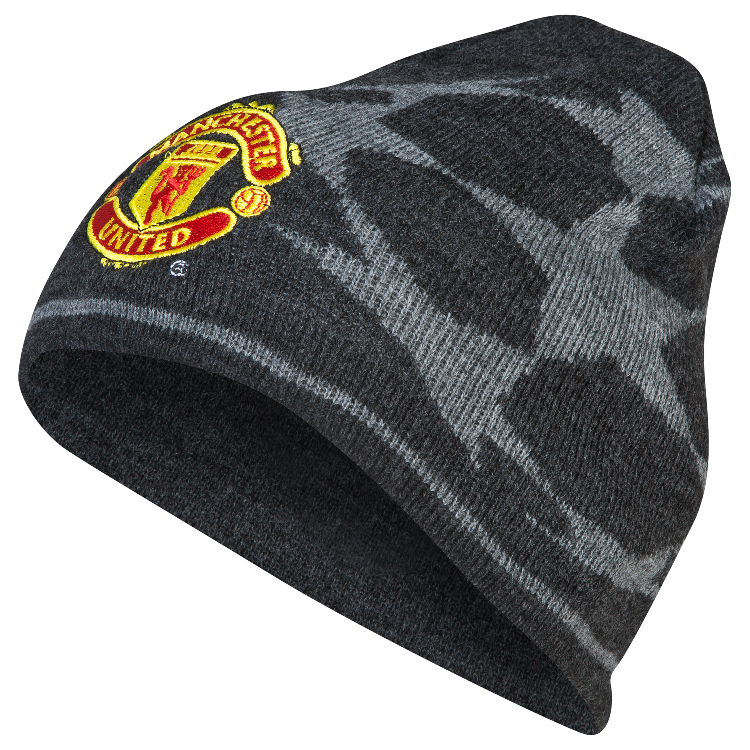 Manchester United UEFA Champions League Star Ball Beanie Hat - Charcoal
