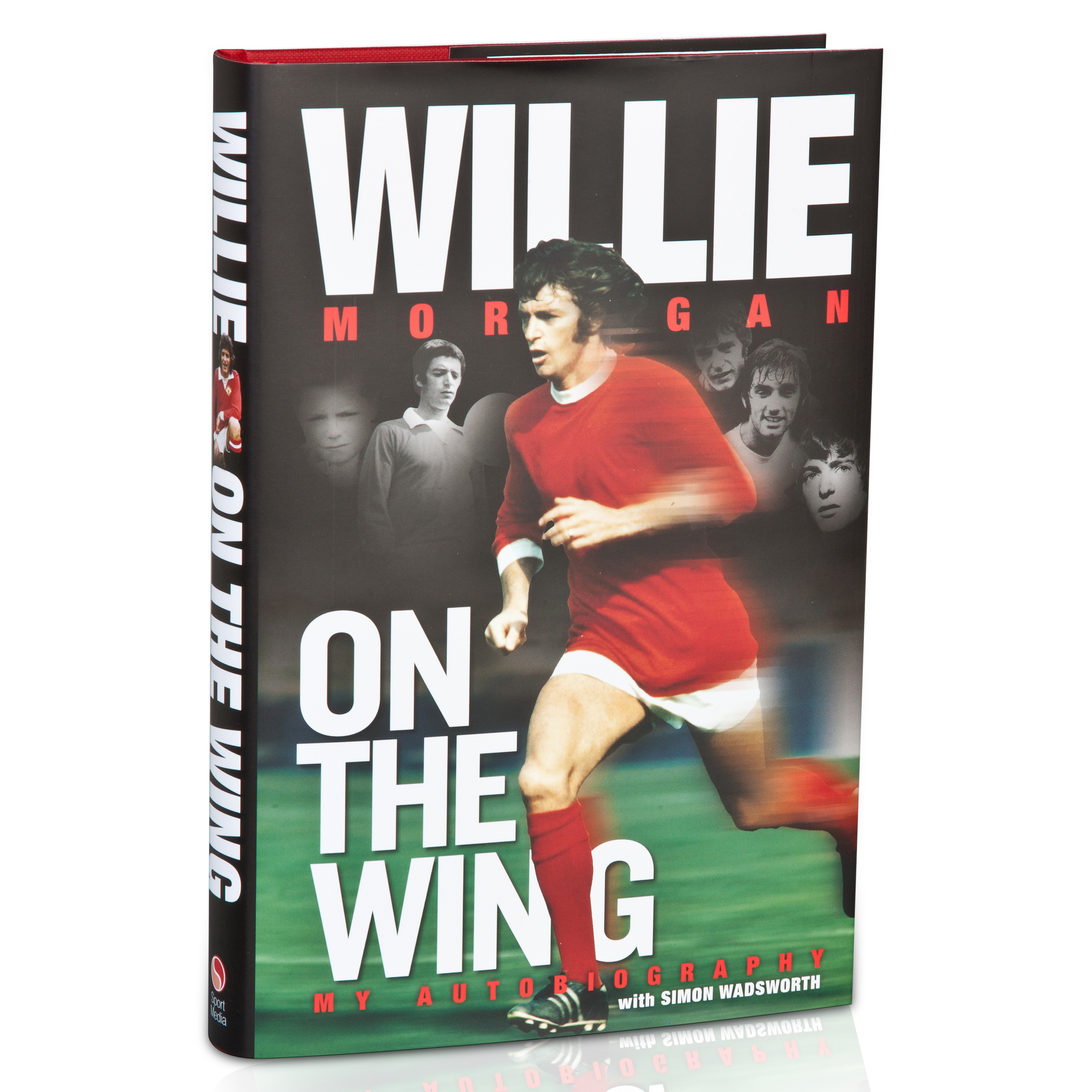 Manchester United Willie Morgan On The Wing My Autobiography Hardback Book