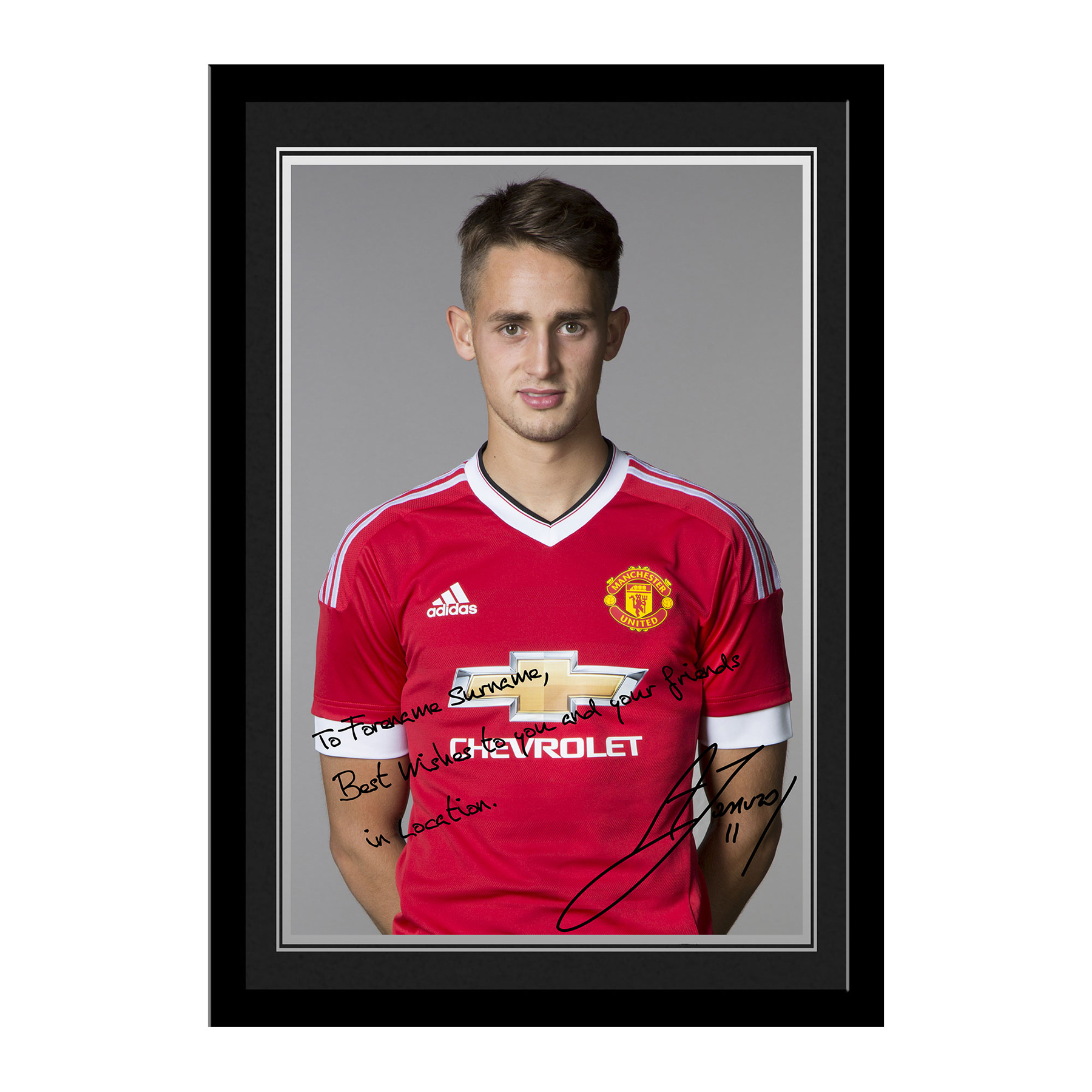 Manchester United Personalised Signature Photo Framed - Januzaj