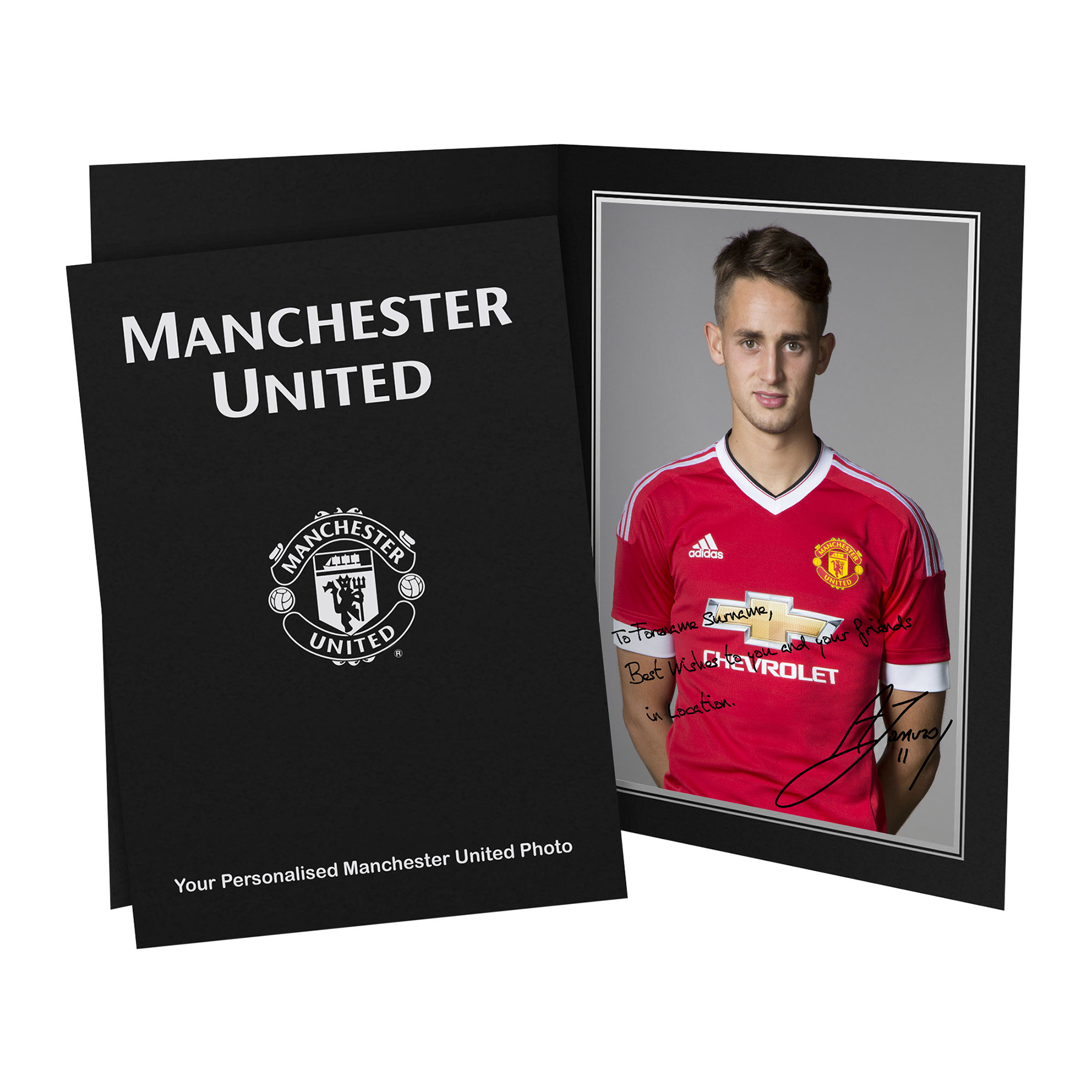 Manchester United Personalised Signature Photo in Presentation Folder - Januzaj