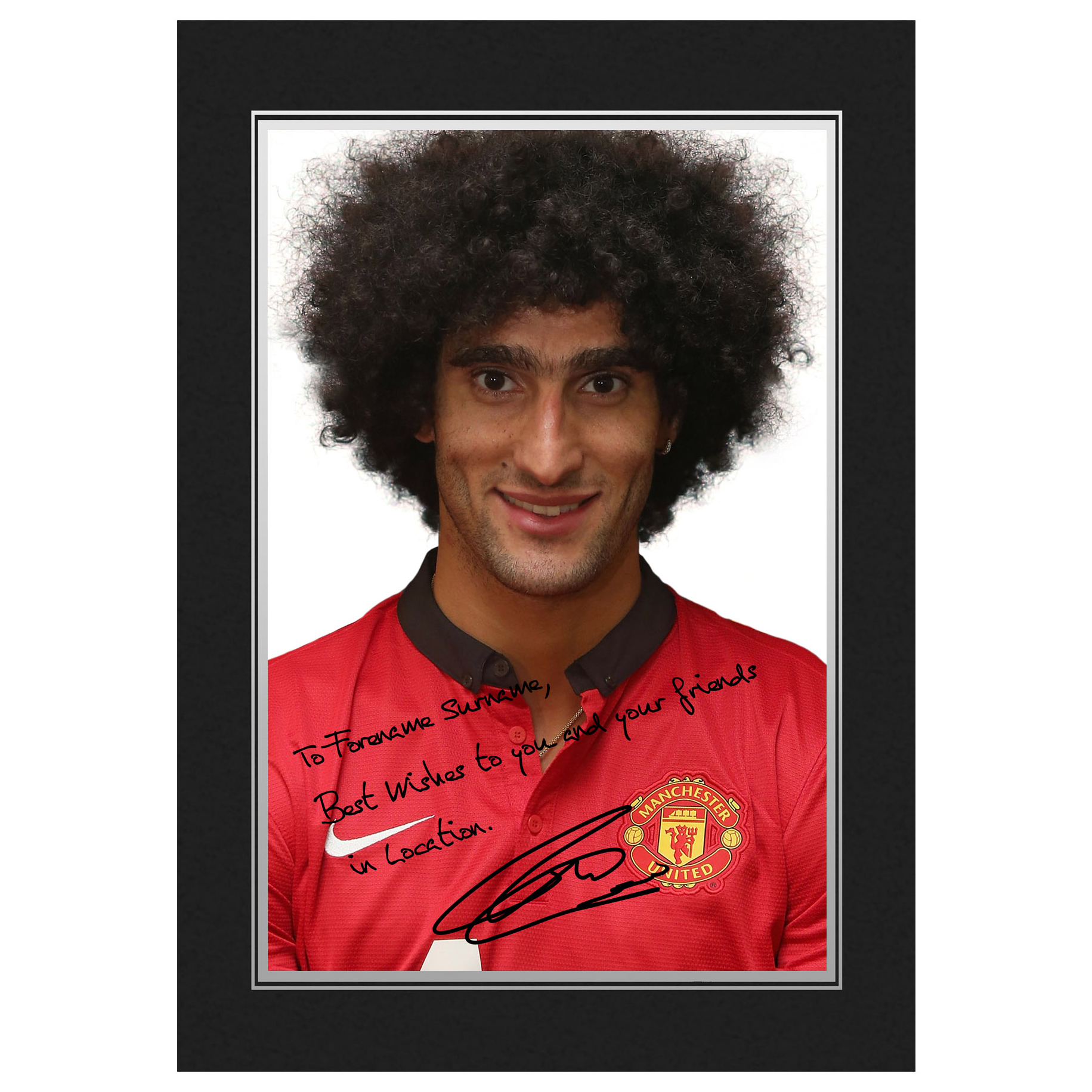 Manchester United Personalised Signature Photo in Presentation Folder - Fellaini