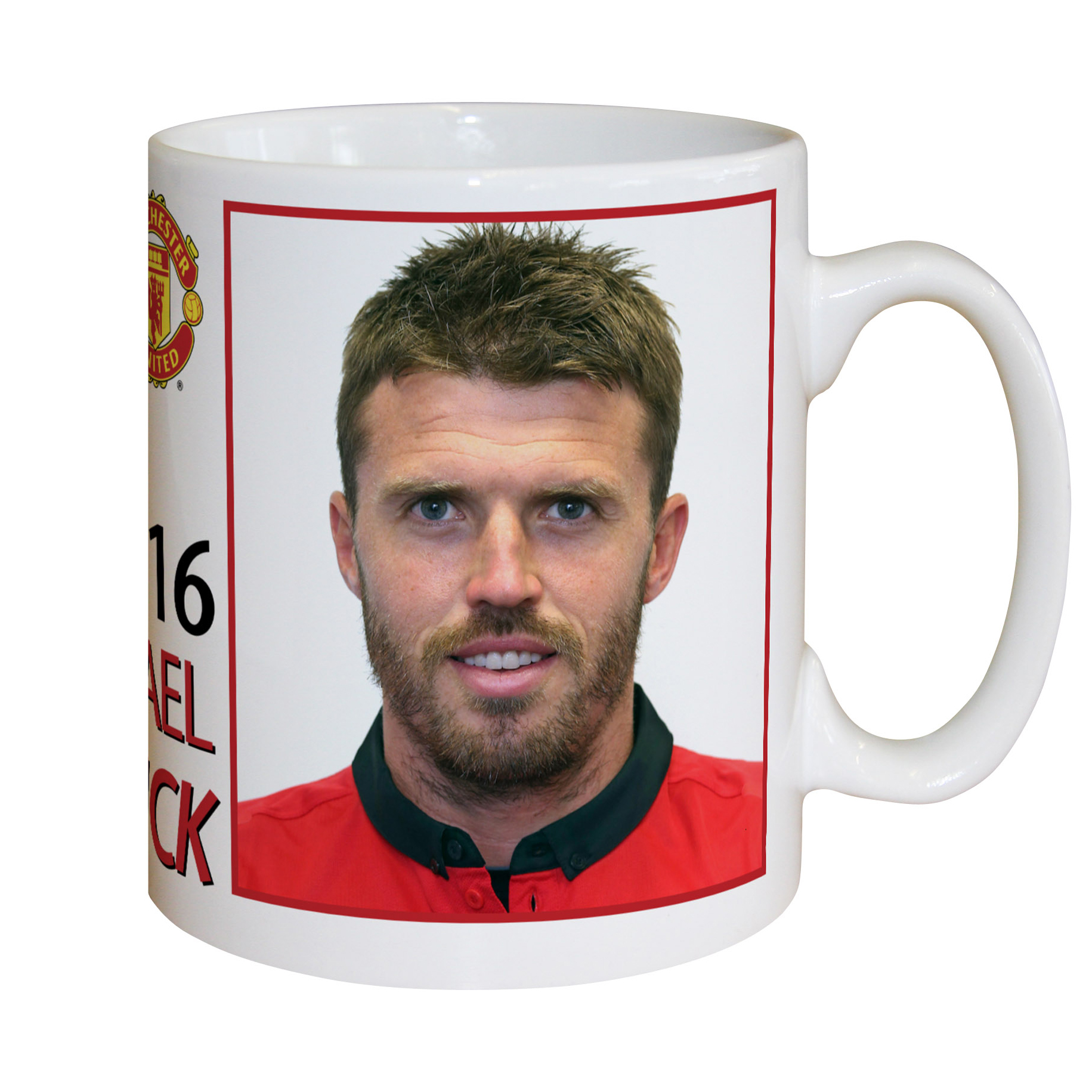 Manchester United Personalised Player Signature Mug - Carrick