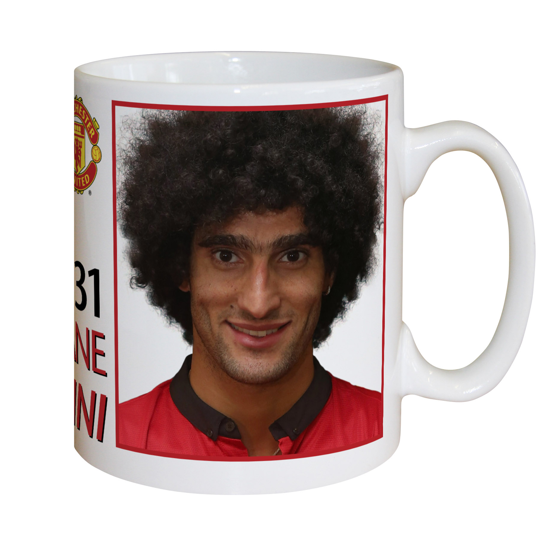 Manchester United Personalised Player Signature Mug - Fellaini