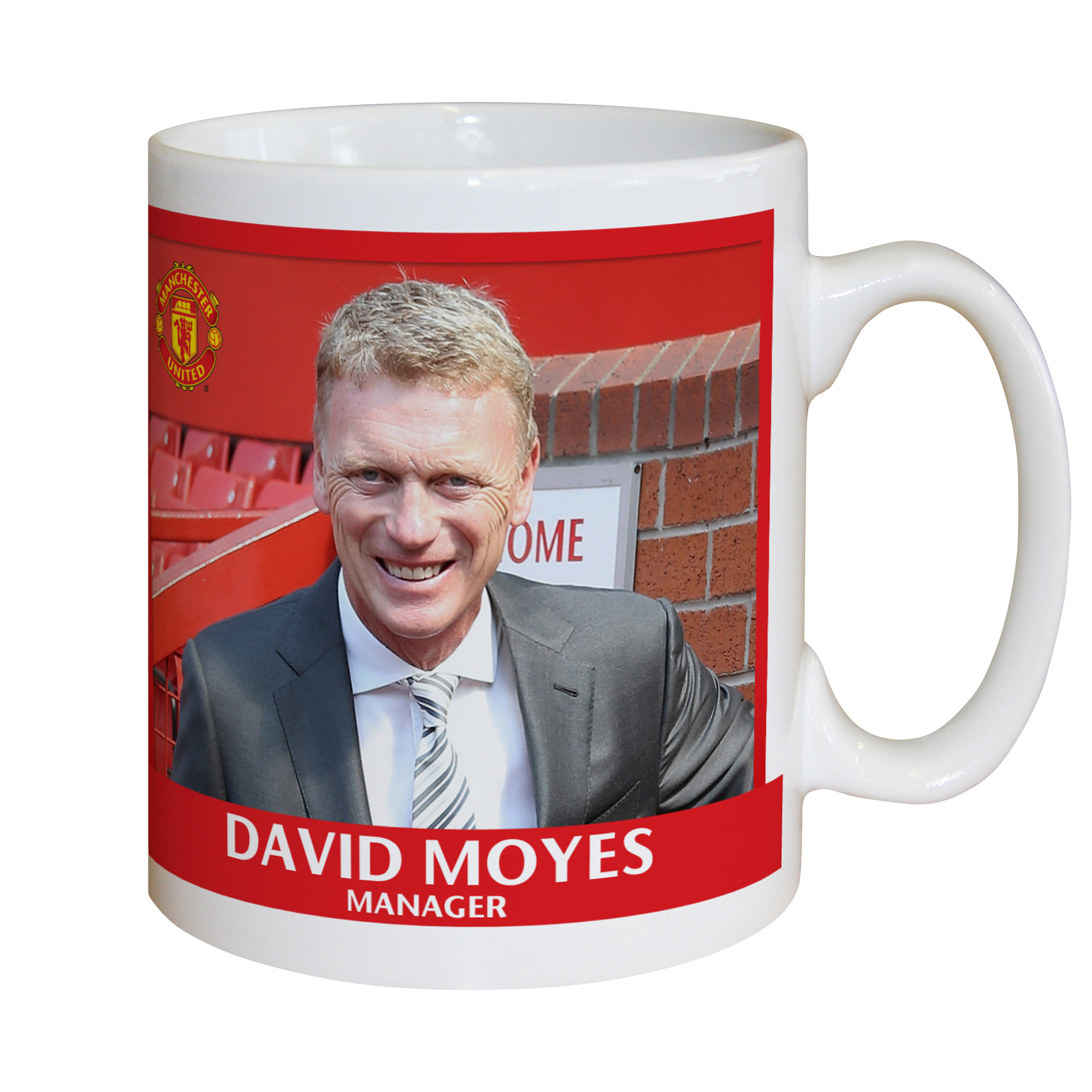 Manchester United Personalised Player Signature Mug - Moyes