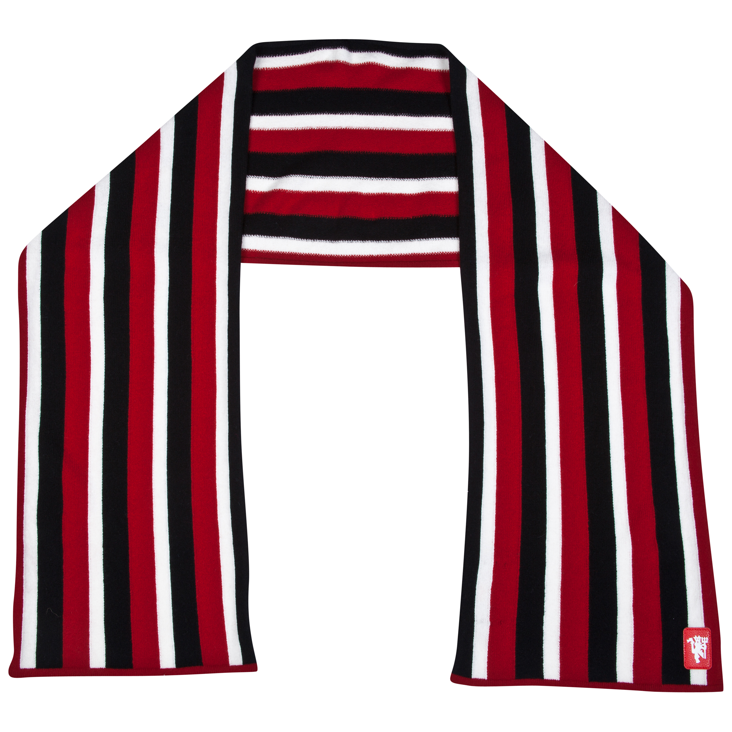 Manchester United Lambswool Striped Scarf -  Adult Multi