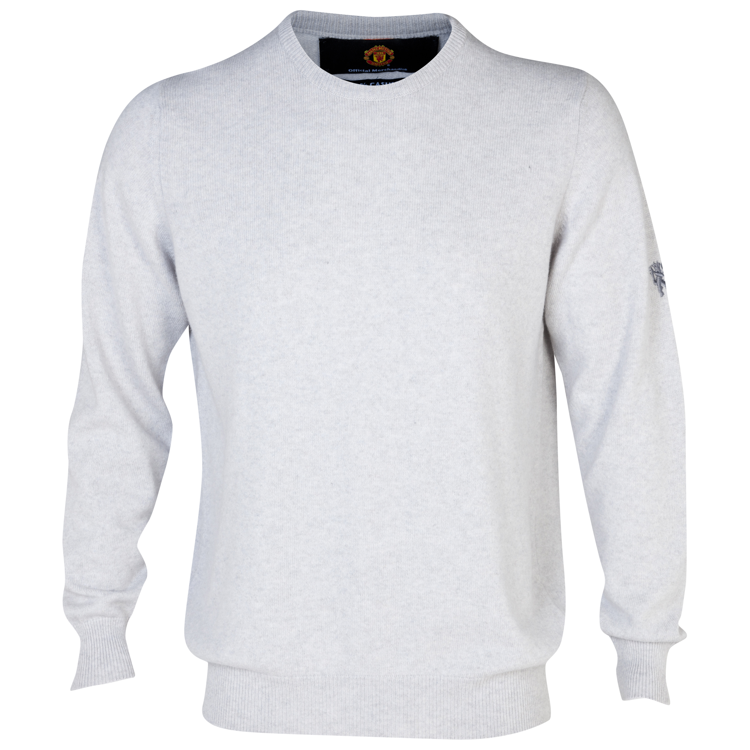 Manchester United Cashmere Crew Neck Sweater - Mens Cream