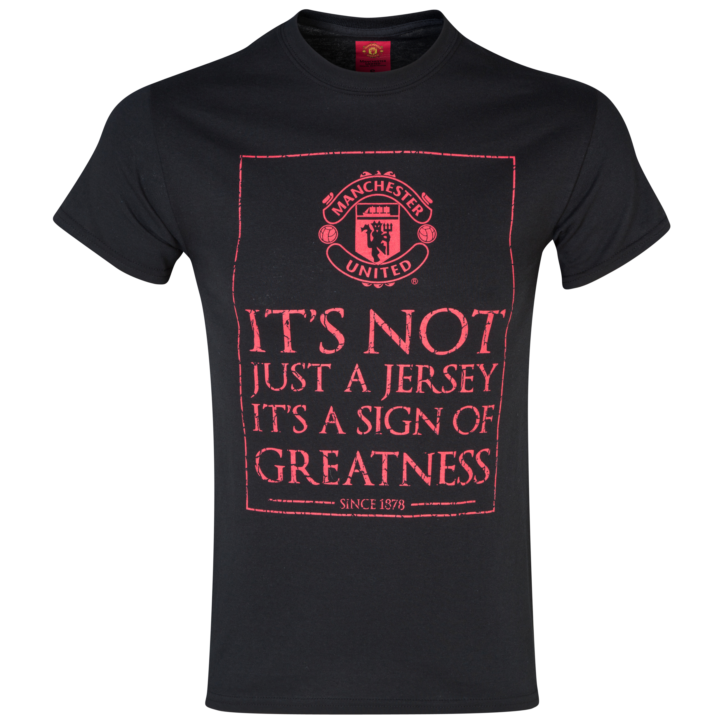 Manchester United Jersey T-Shirt -  Mens Black