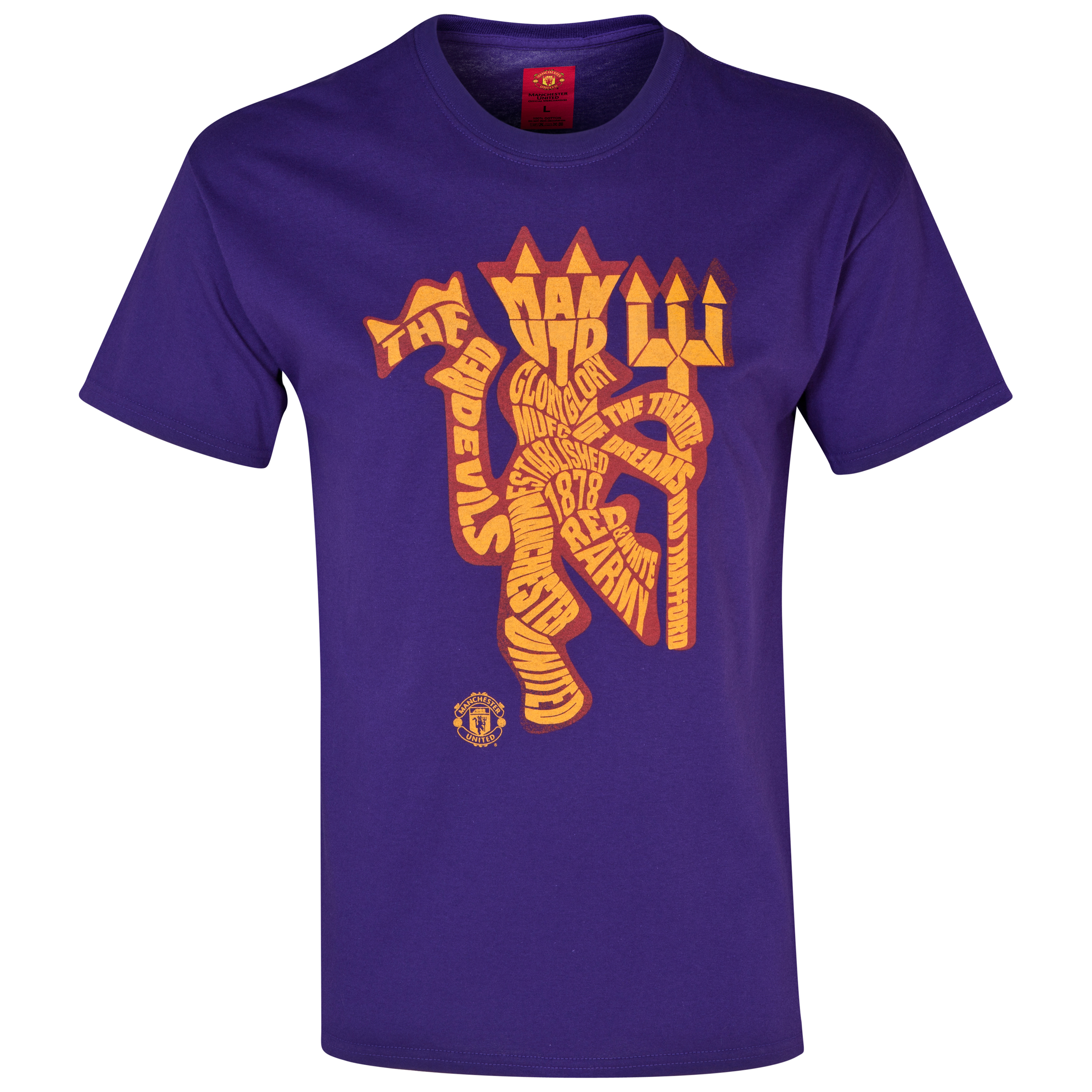 Manchester United Devil Art T-Shirt -  Boys Purple