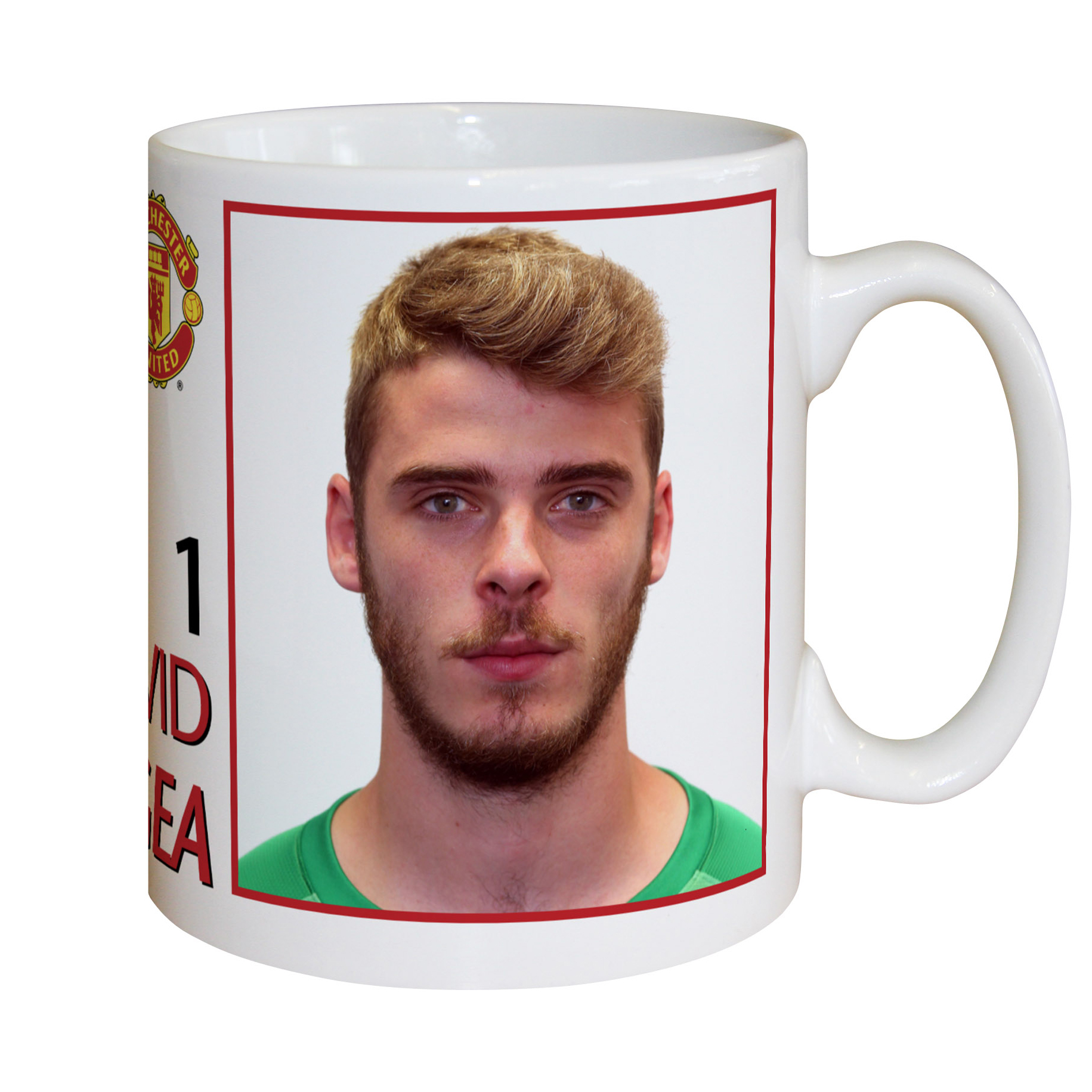 Manchester United Personalised Player Signature Mug - De Gea