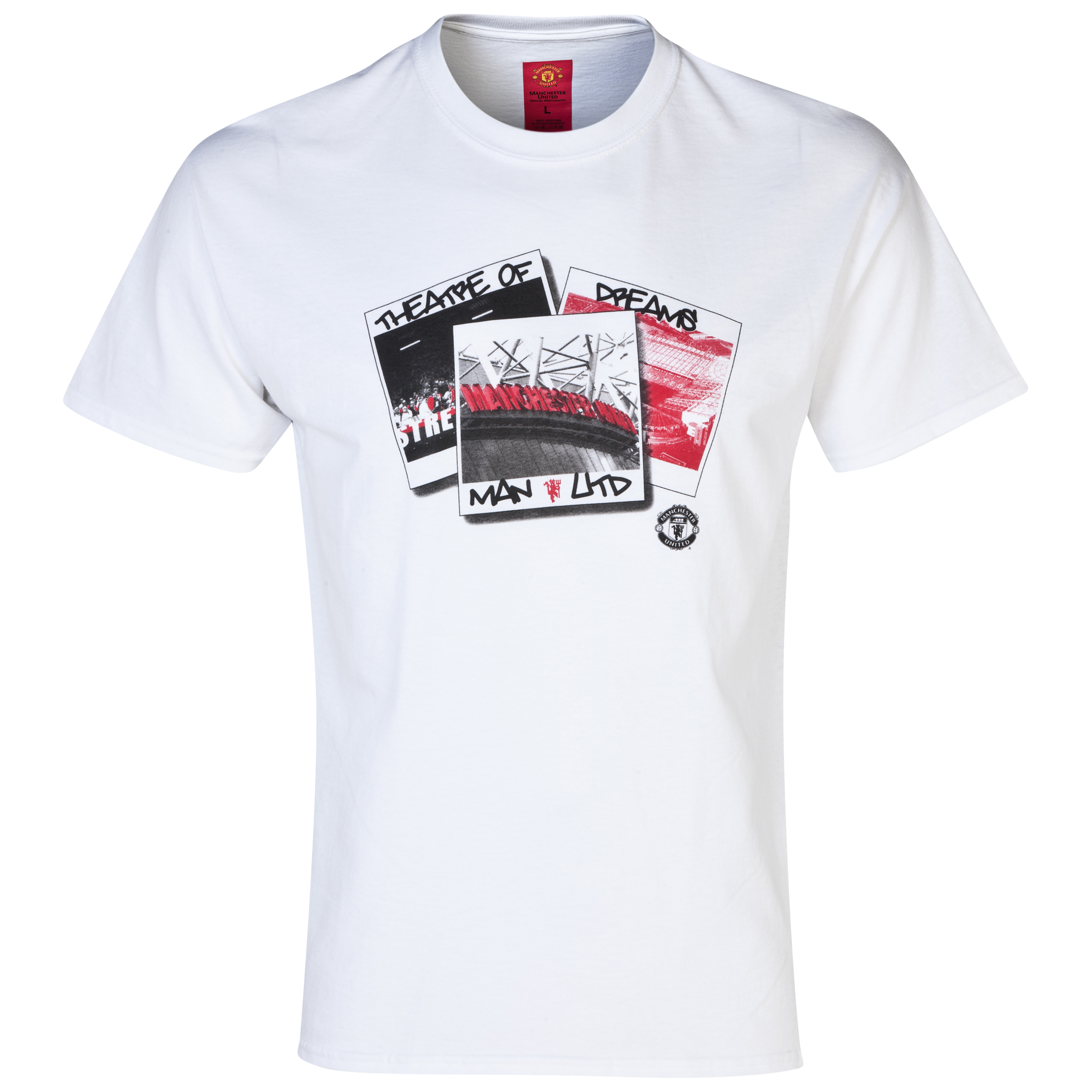 Manchester United Polaroid T-Shirt -  Mens White