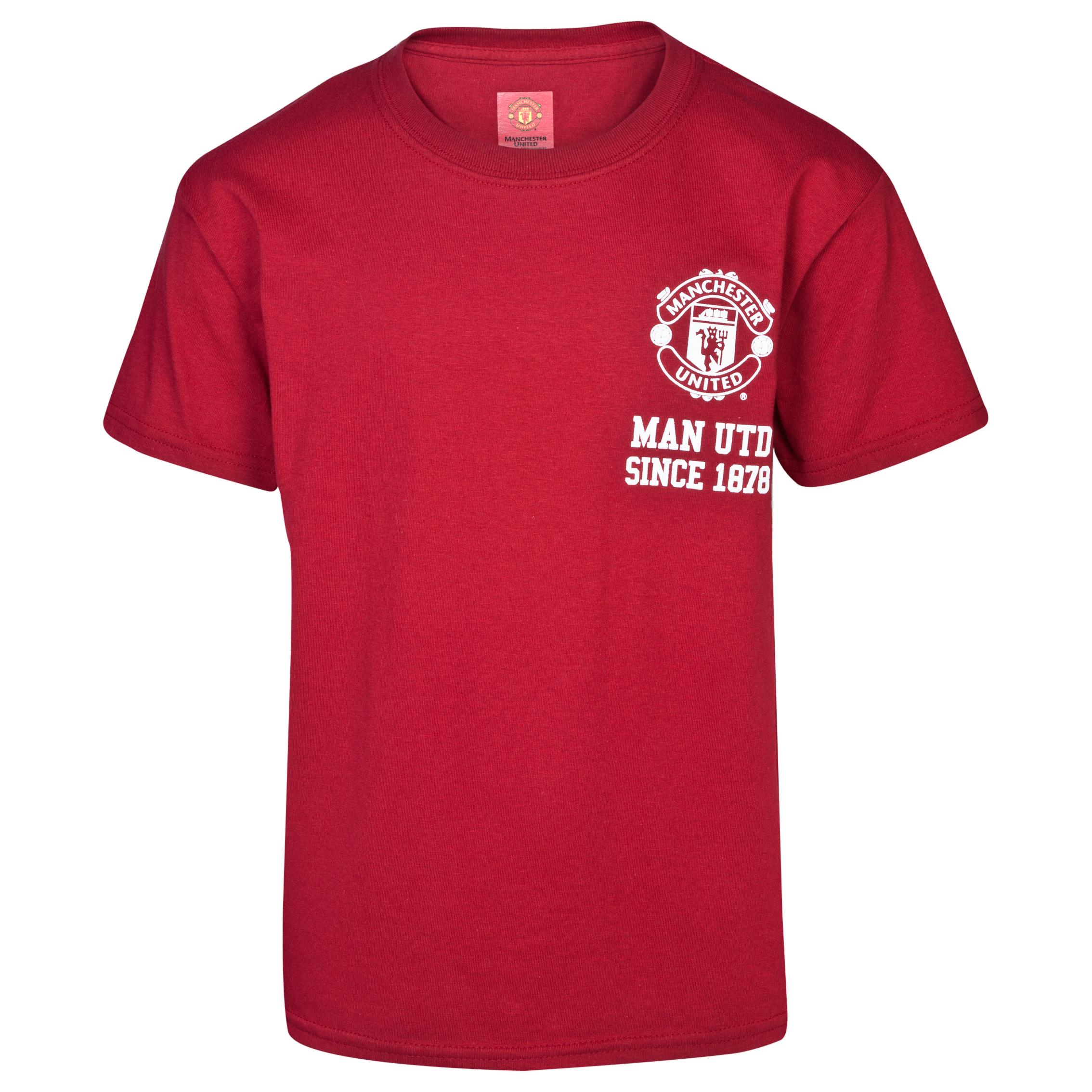 Manchester United Crest T-Shirt - Boys Red