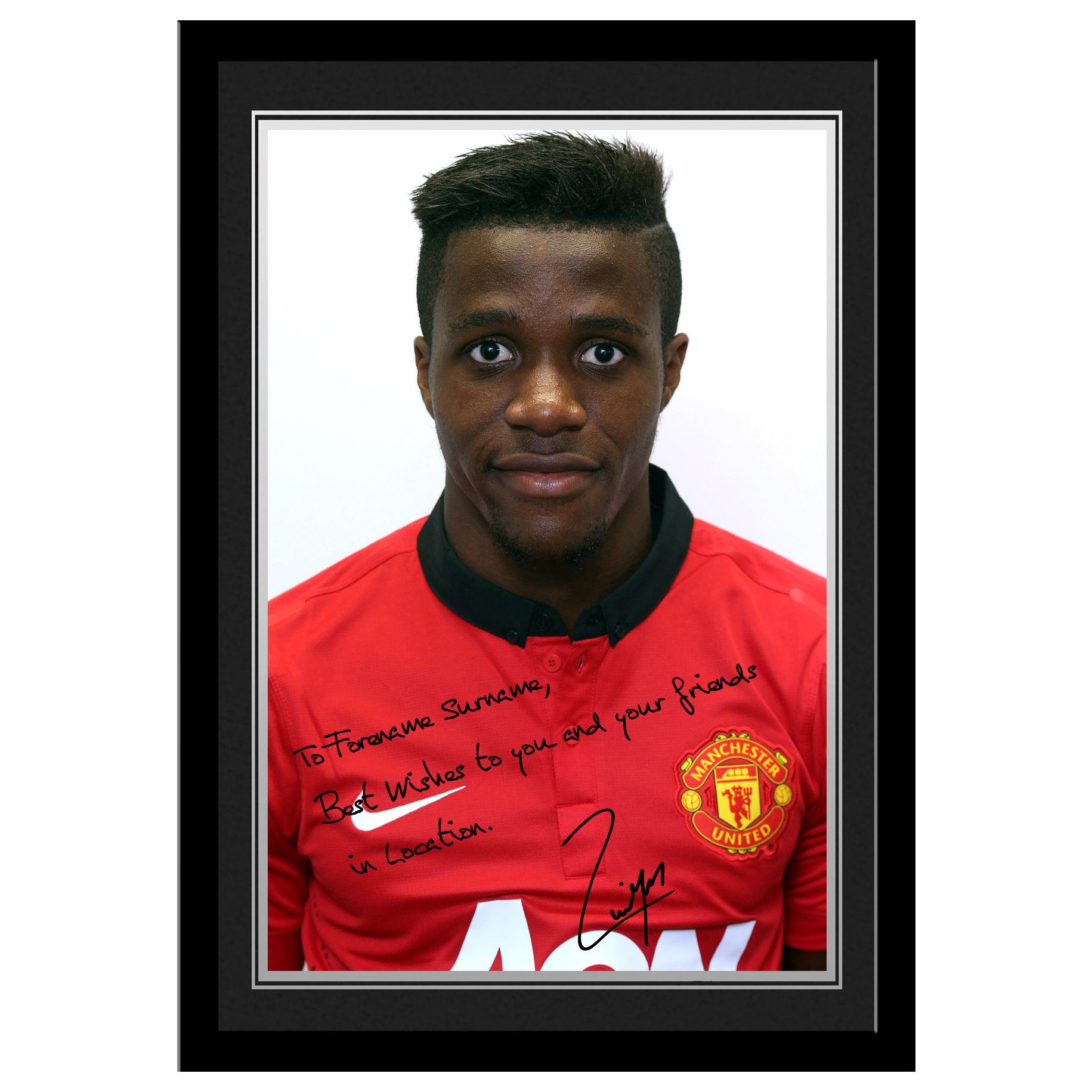 Manchester United Personalised Signature Photo Framed - Zaha