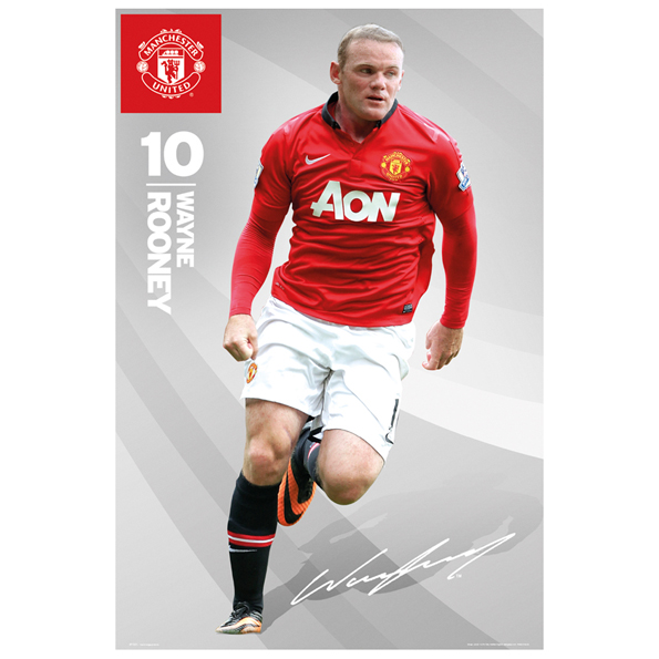 Manchester United 2013/14 Rooney Poster - 61 x 92cm