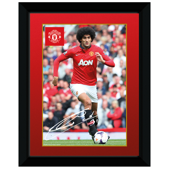 Manchester United 2013/14 Fellaini Framed Print - 8 x 6 Inch