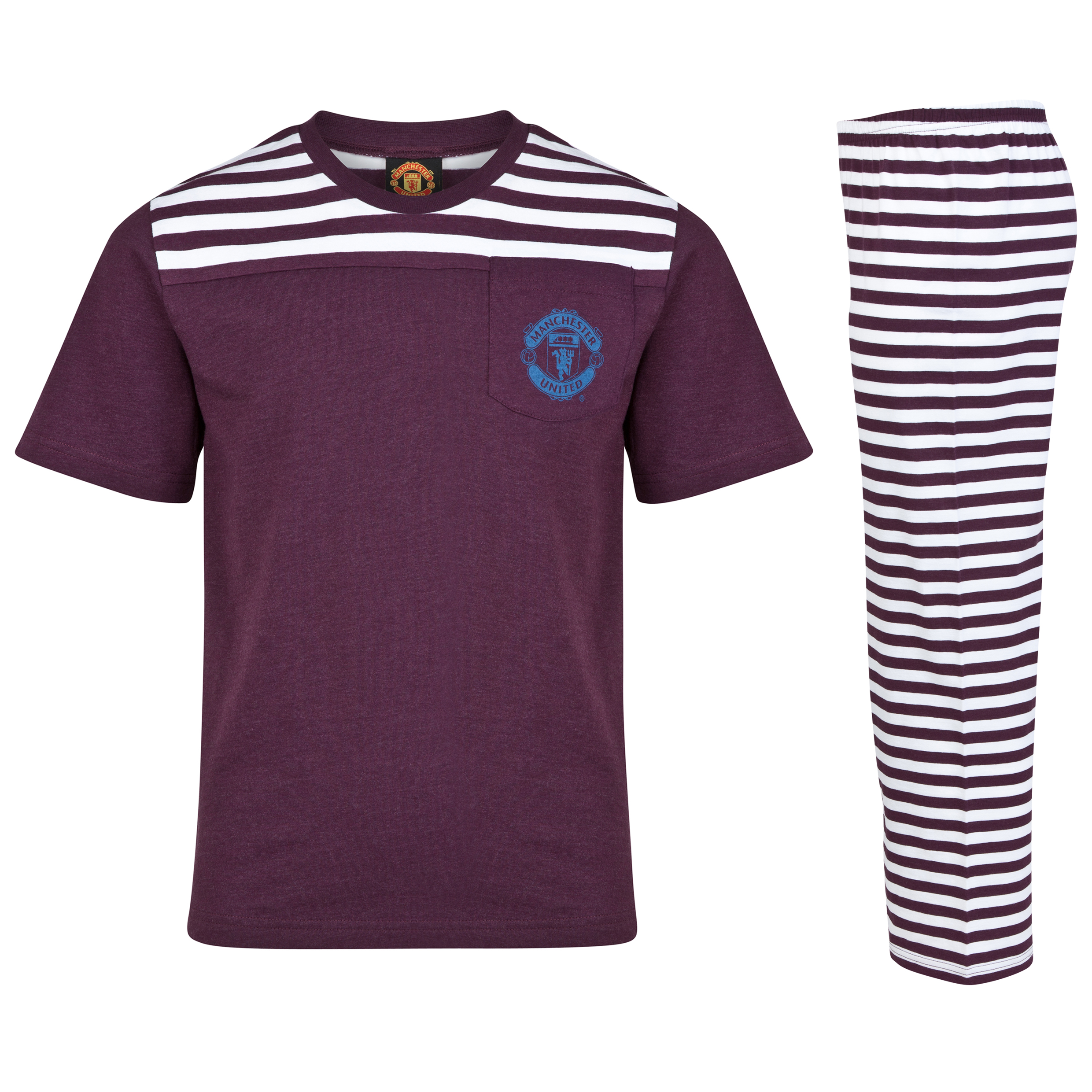 Manchester United Striped Pyjamas - Older Boys
