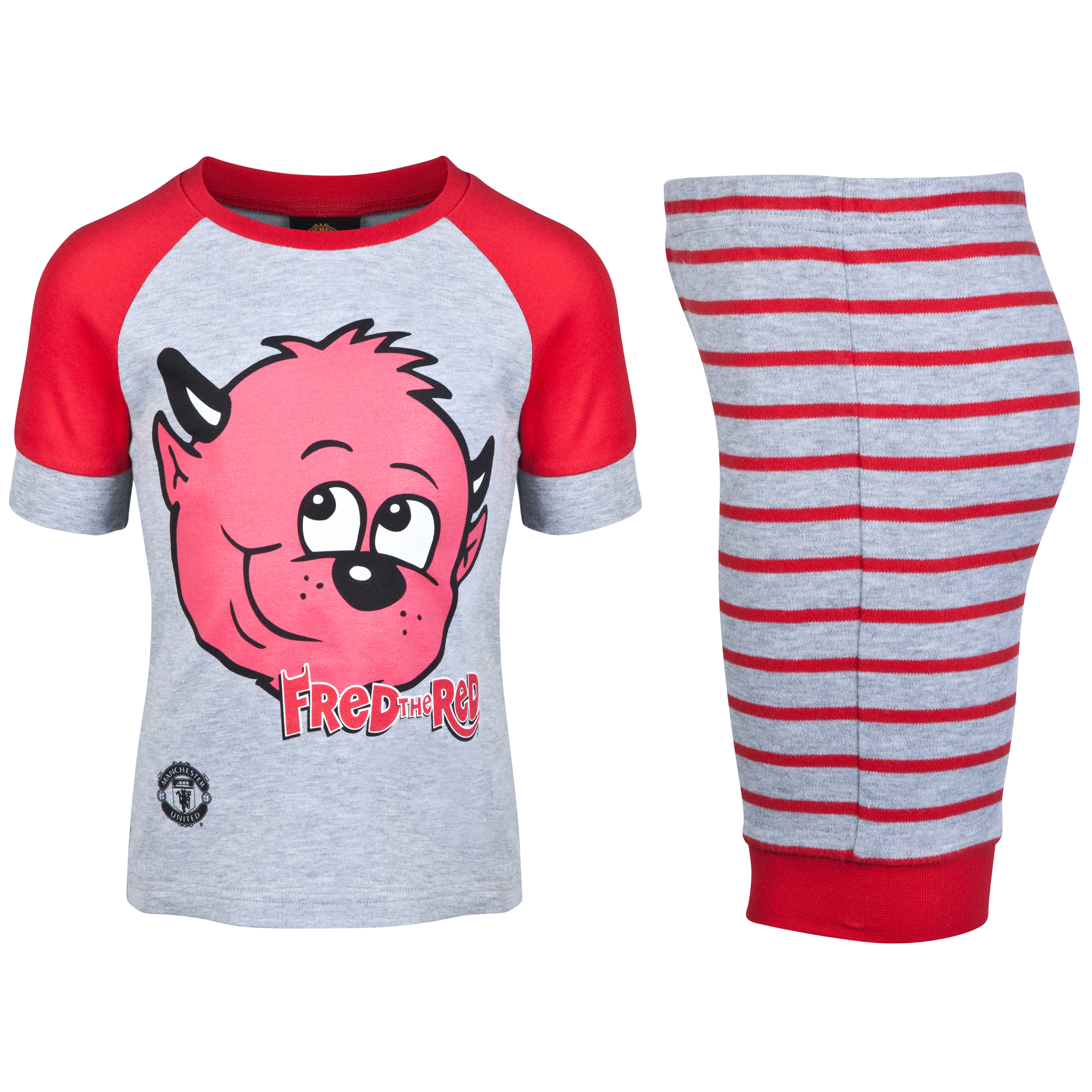 Manchester United Fred The Red Snuggle Fit Pyjamas - Infant Boys Grey