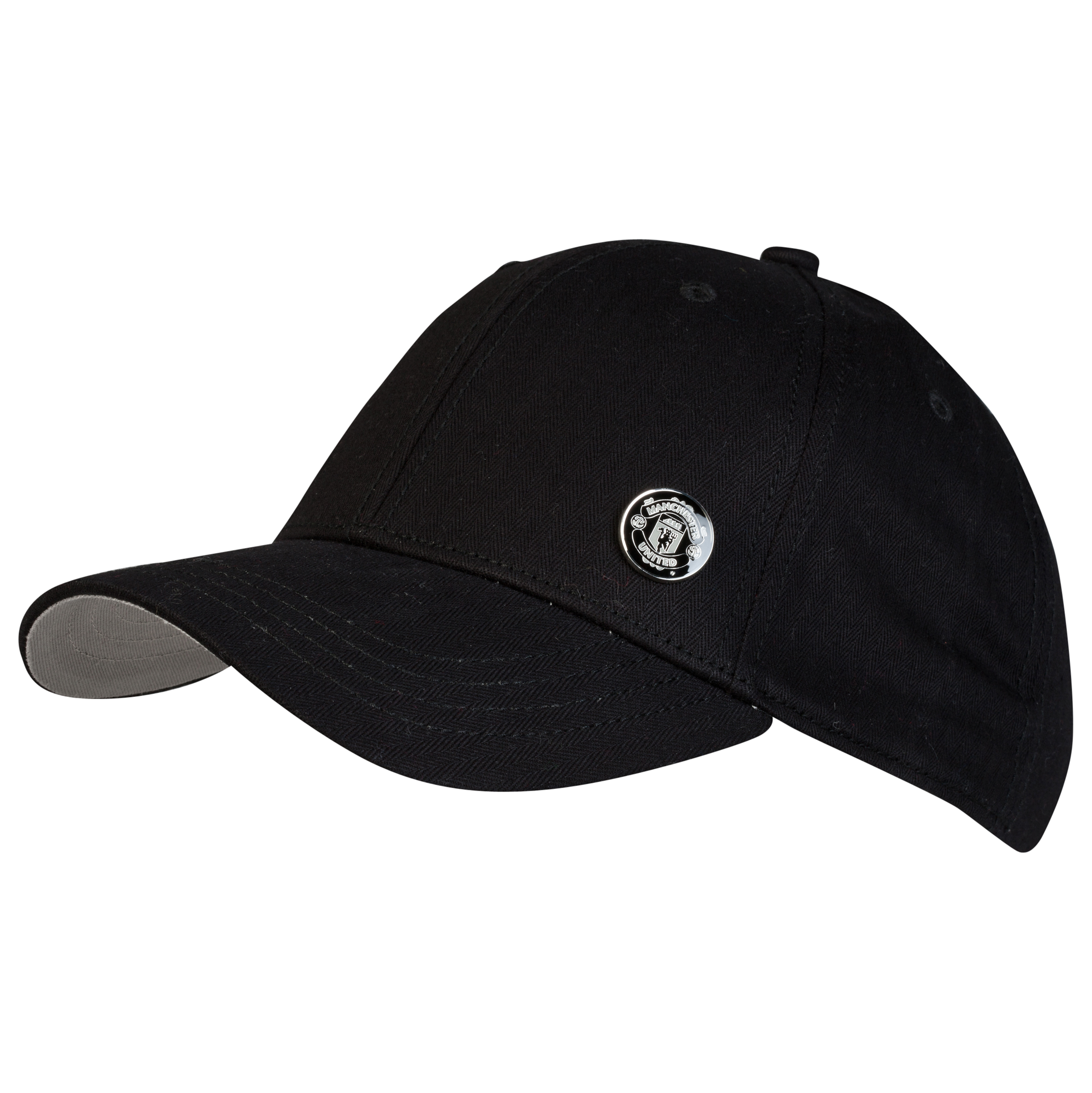 Manchester United Herringbone Baseball Cap - Adult Black
