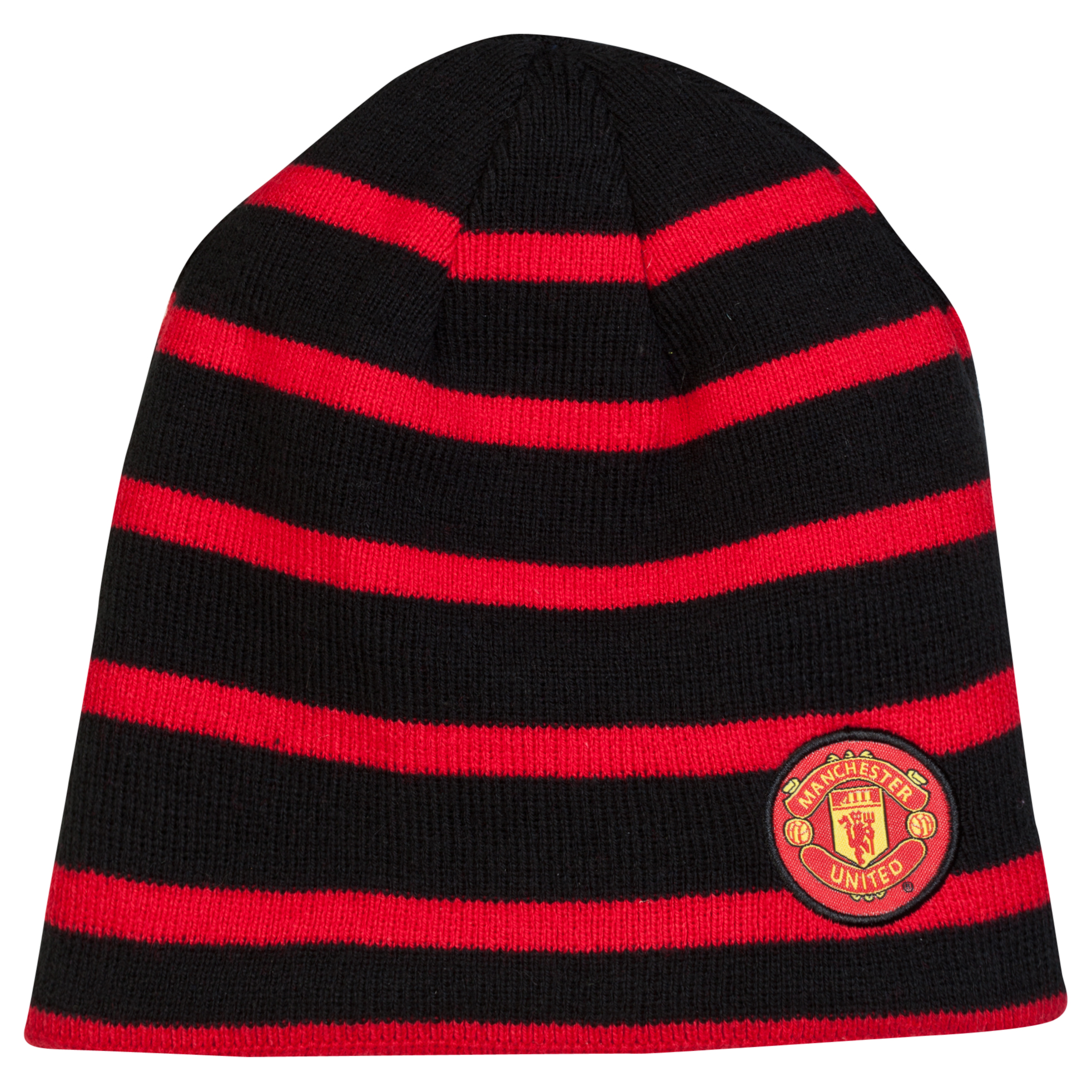 Manchester United Reversible Beanie Hat - Junior Red