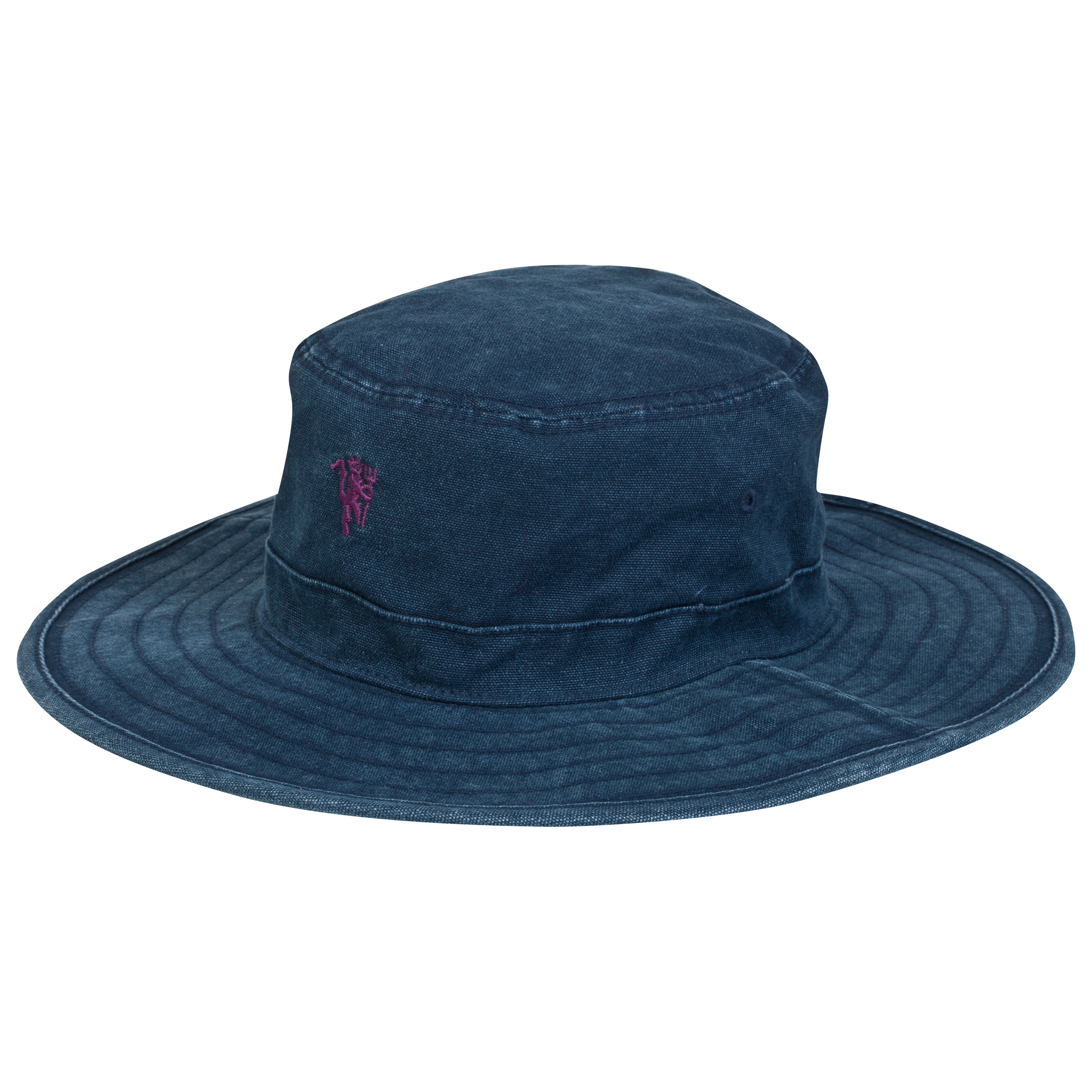 Manchester United Devil Canvas Hat - Womens Blue
