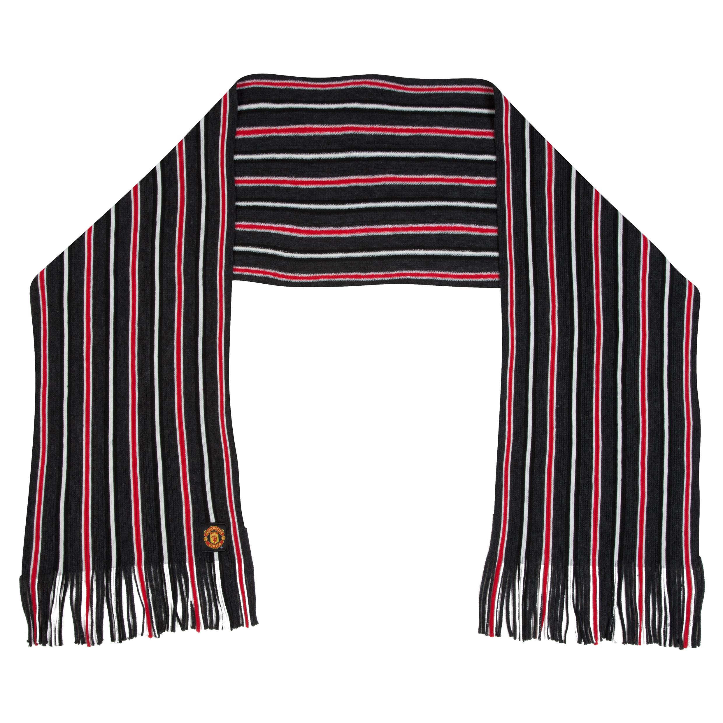 Manchester United Striped Fashion Scarf - Adult
