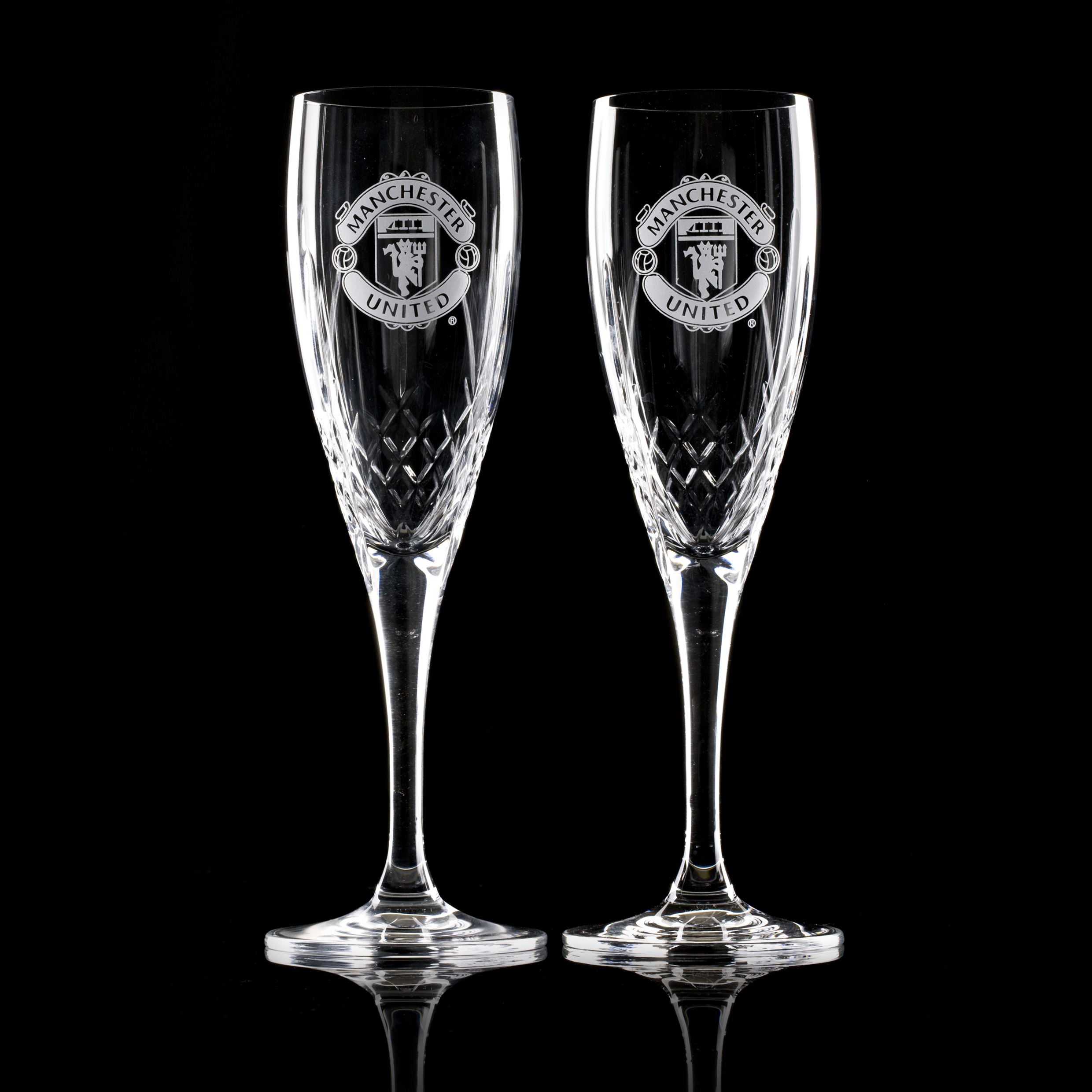 Manchester United Mayfair Crystallite Champagne Flute - Pair