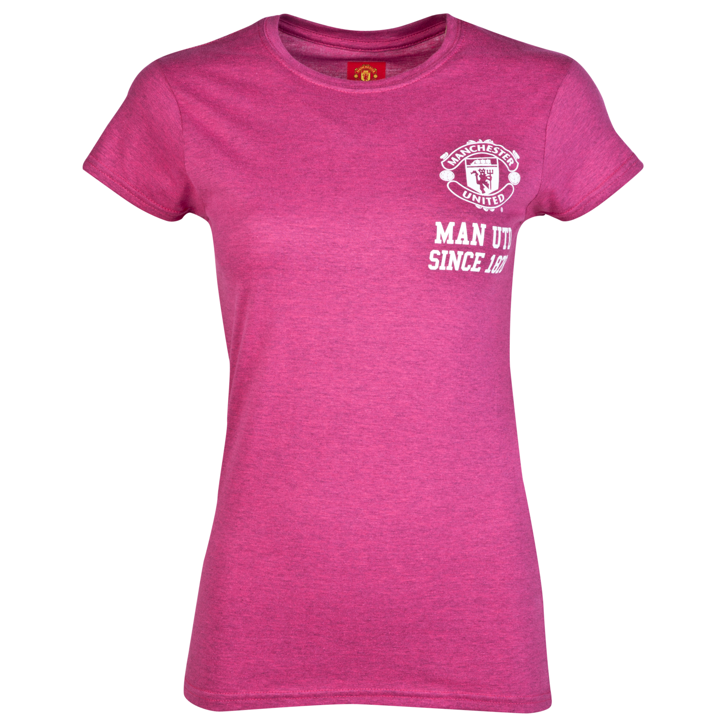 Manchester United Crest T-Shirt - Womens