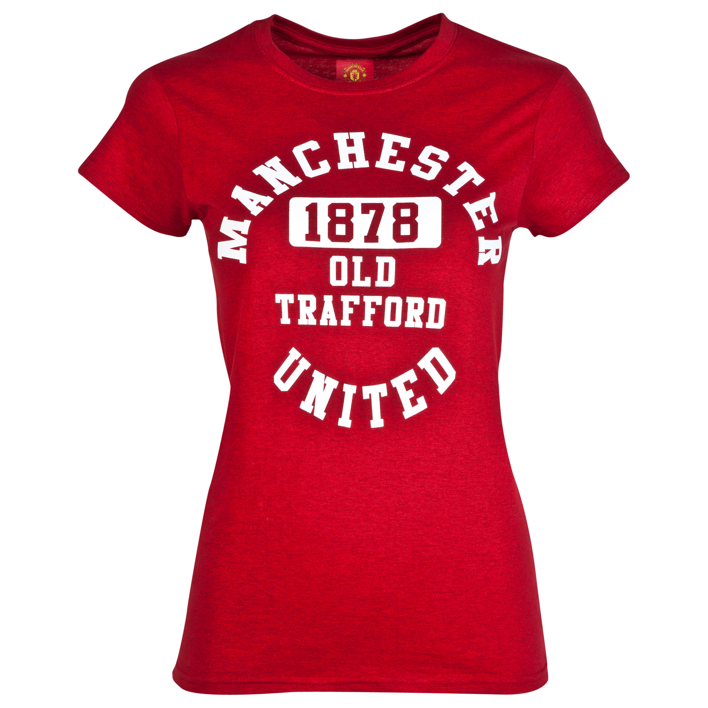 Manchester United Old Trafford T-Shirt - Womens Red