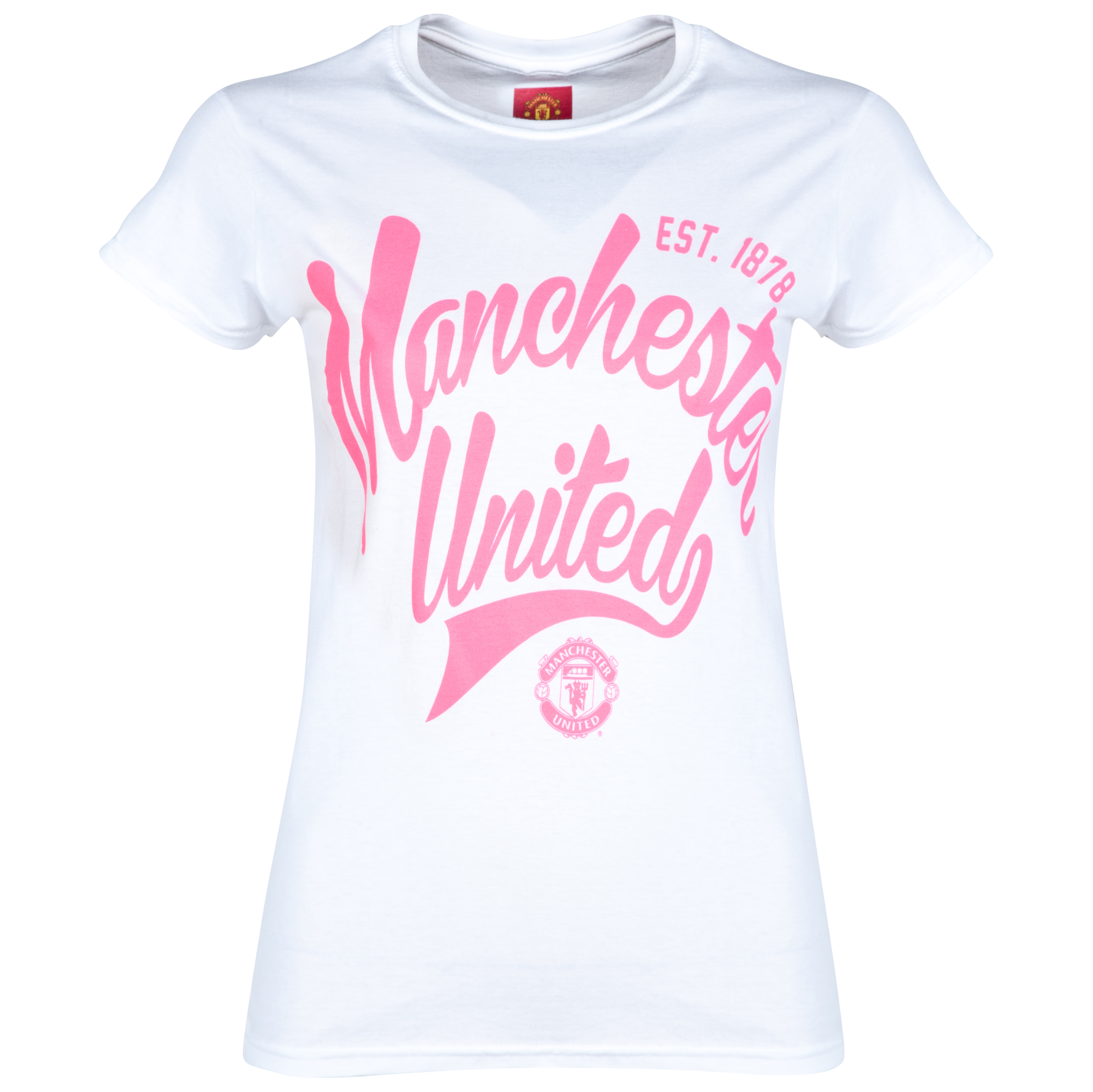 Manchester United Est.1878 T-Shirt - Womens White