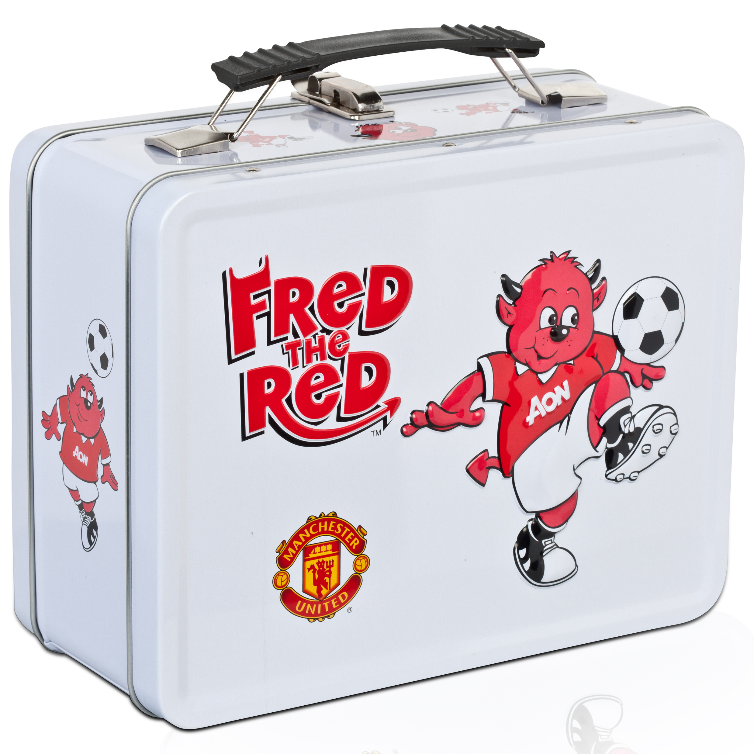 Manchester United Retro Fred the Red Tin Lunch Box
