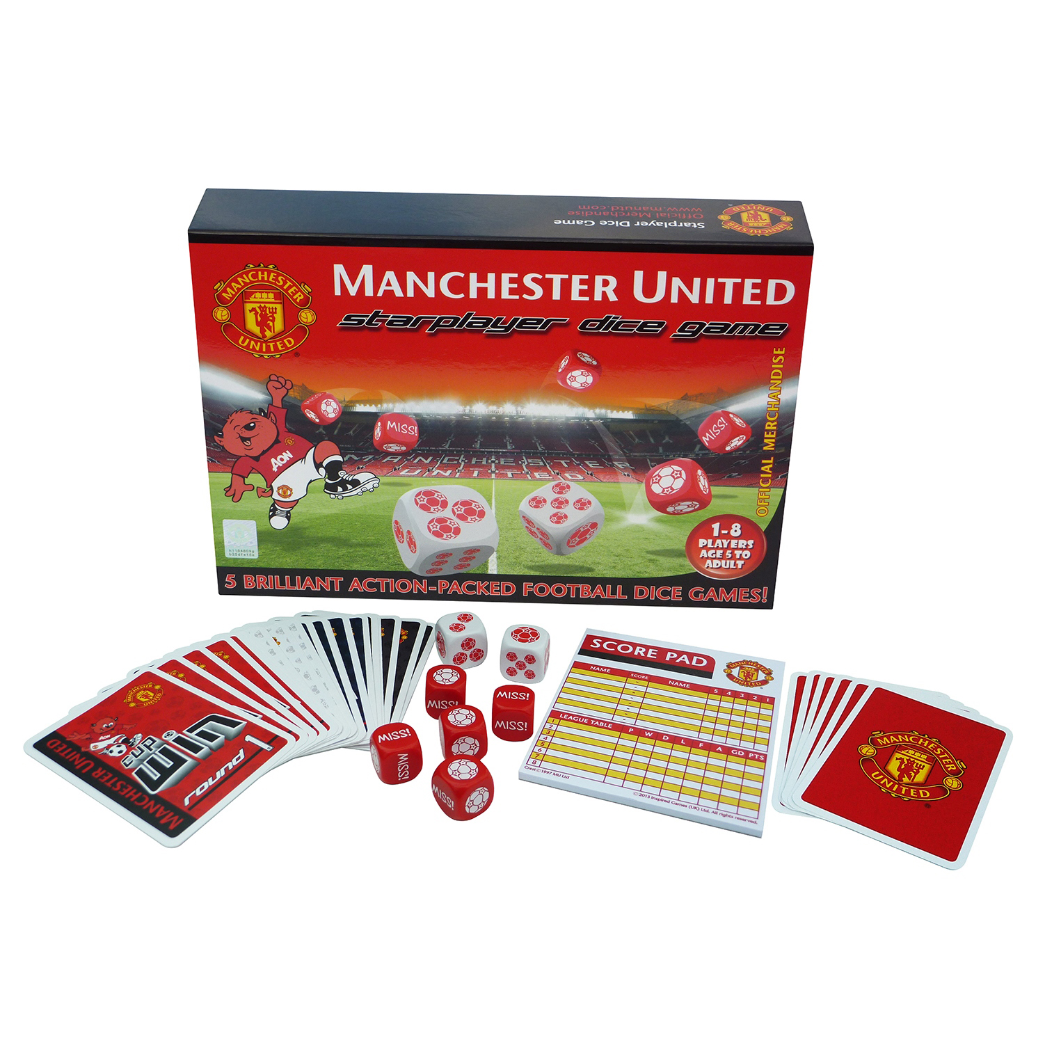Manchester United Starplayer Dice Game