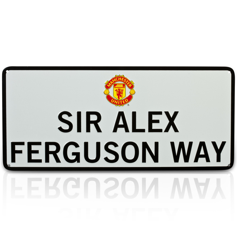 Manchester United Sir Alex Ferguson Way Street Sign