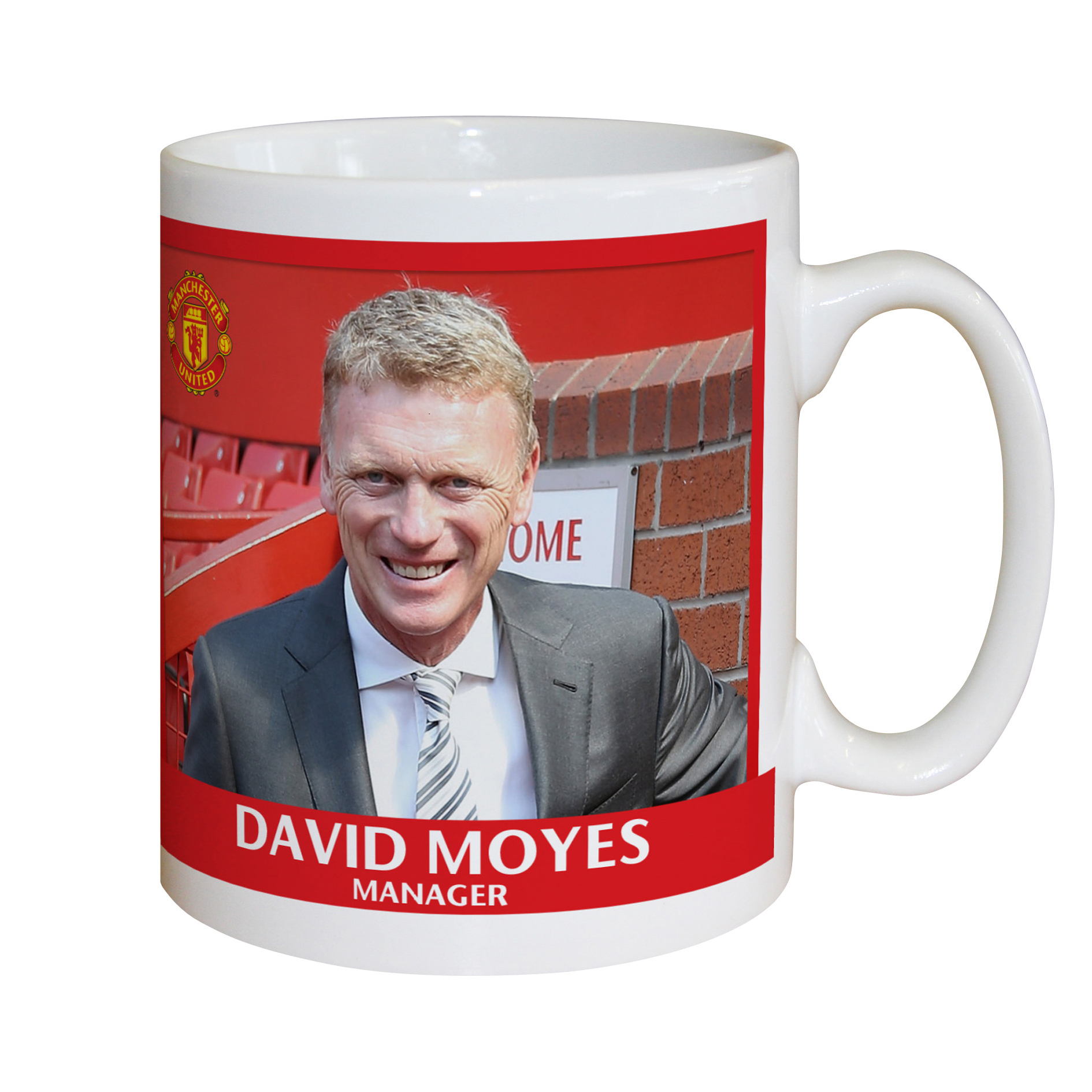 Manchester United Personalised Signature Mug - David Moyes