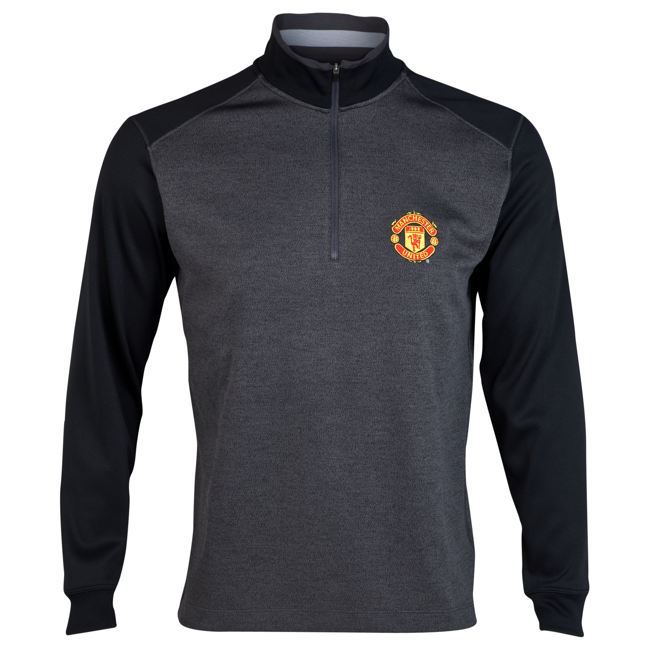 Manchester United Nike Golf 1/2 Zip Sweatshirt Black