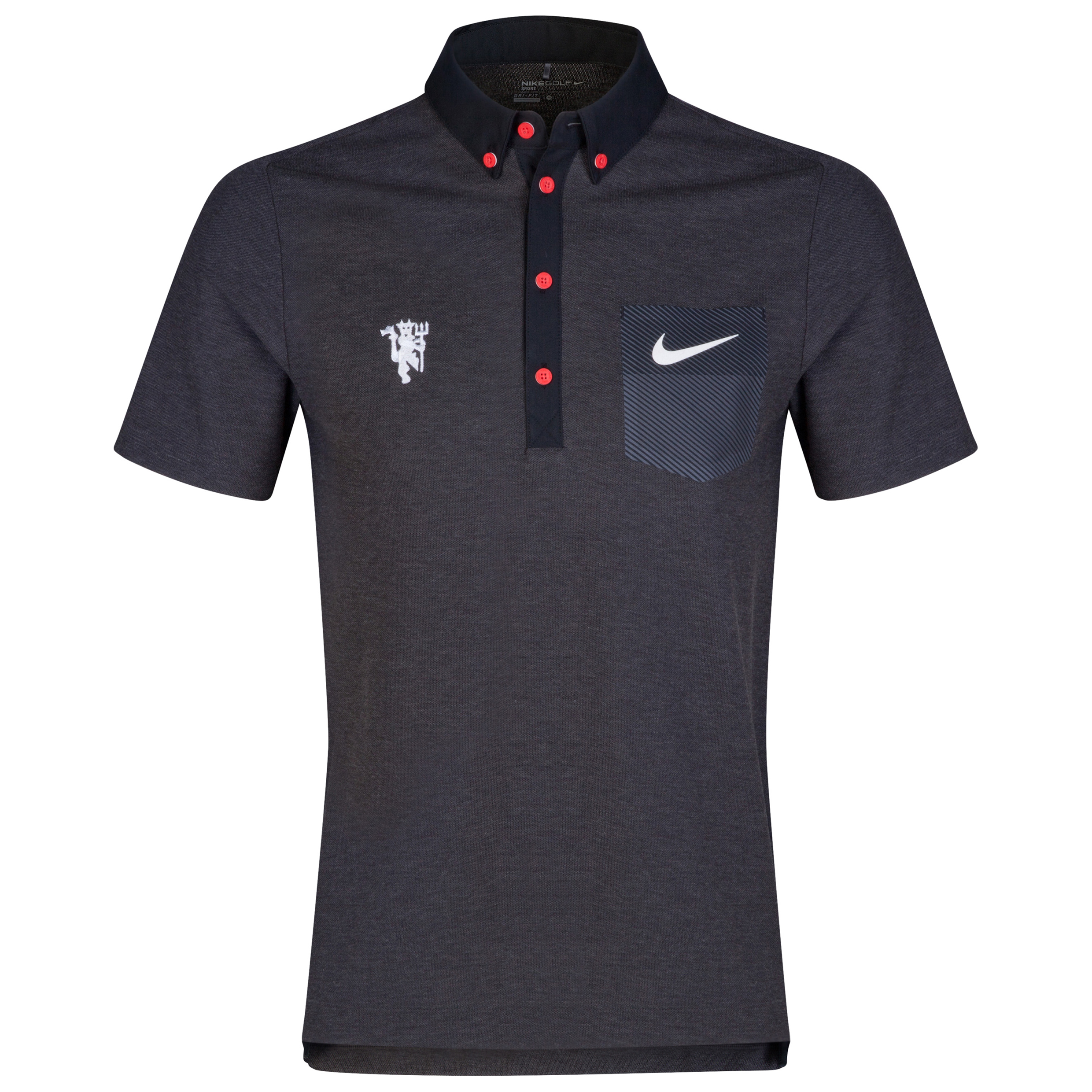 Manchester United Nike Golf Pocket Polo Black
