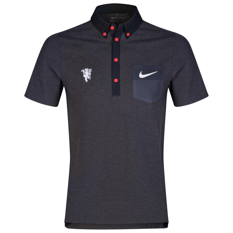 Manchester United Nike Golf Pocket Polo Black