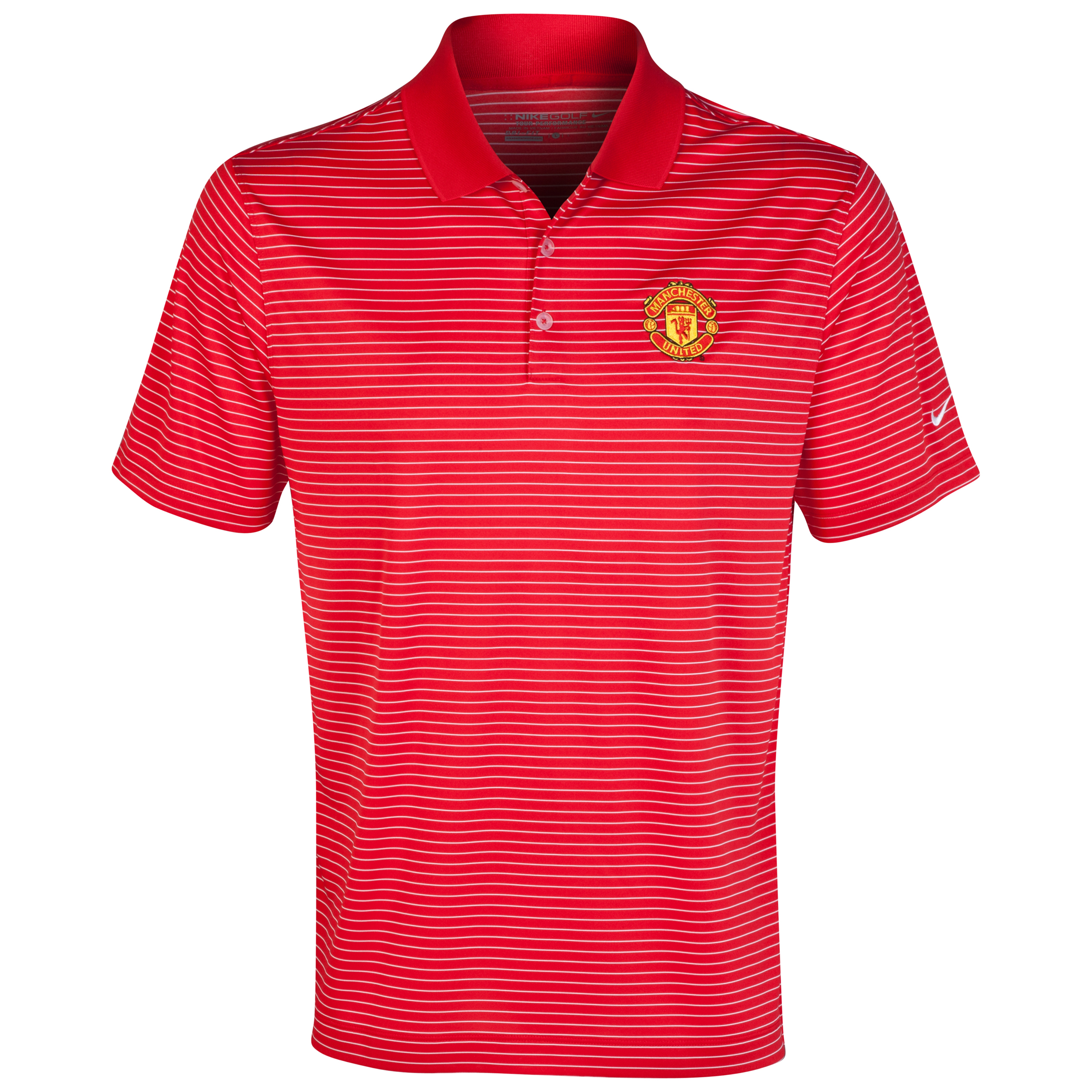 Manchester United Nike Golf Victory Stripe Polo Red