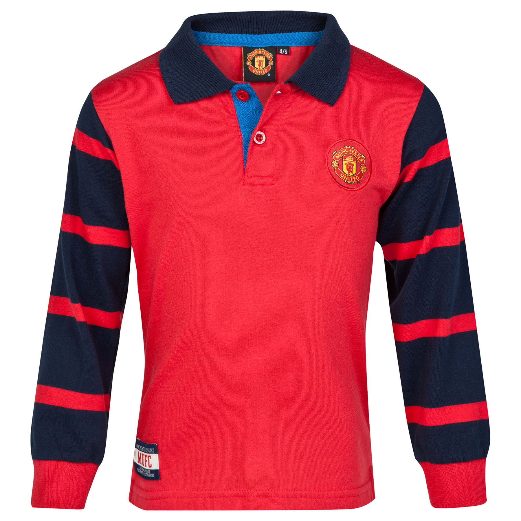 Manchester United Striped Rugby Shirt - Red - Infant Boys