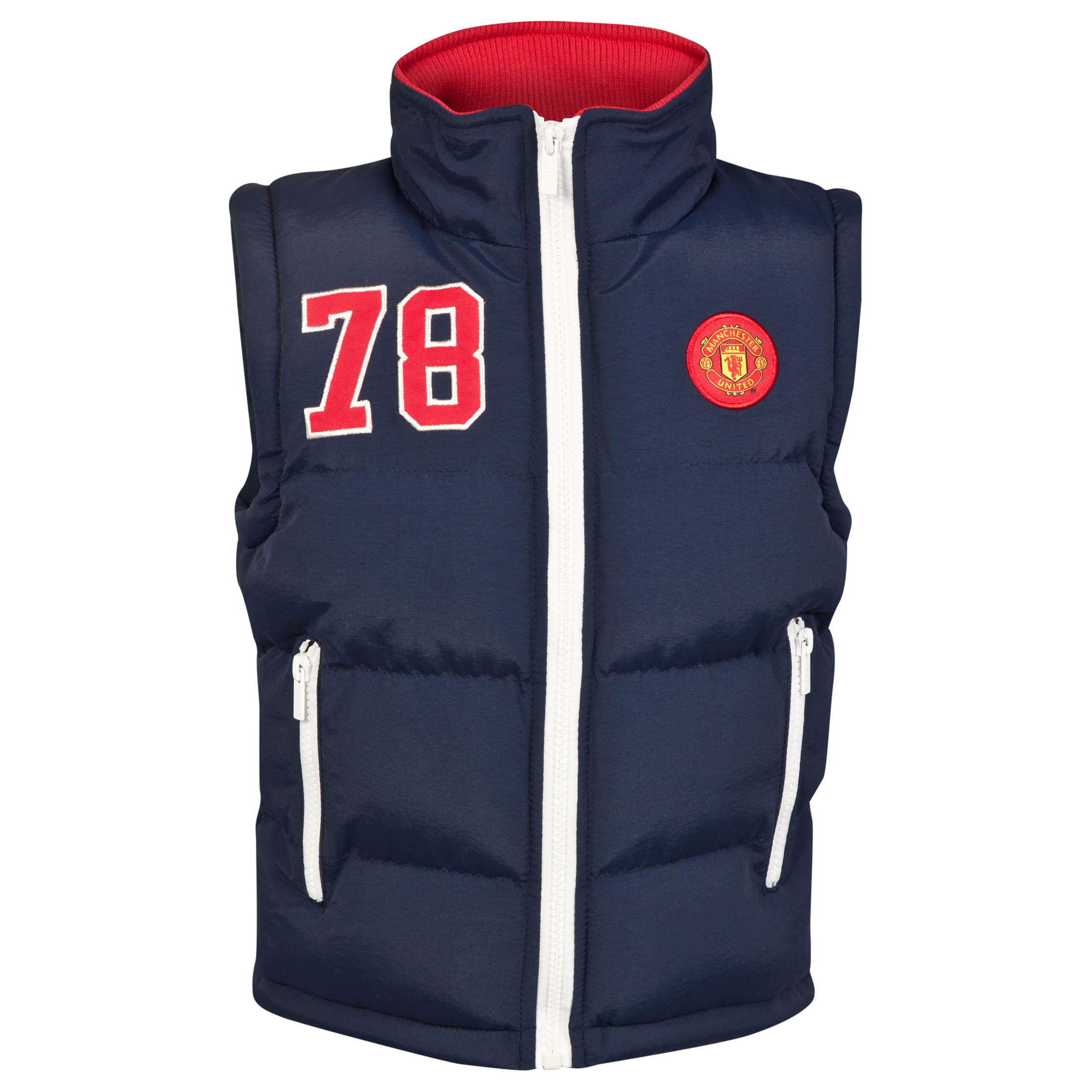 Manchester United Padded Gillet - Navy - Infant Boys
