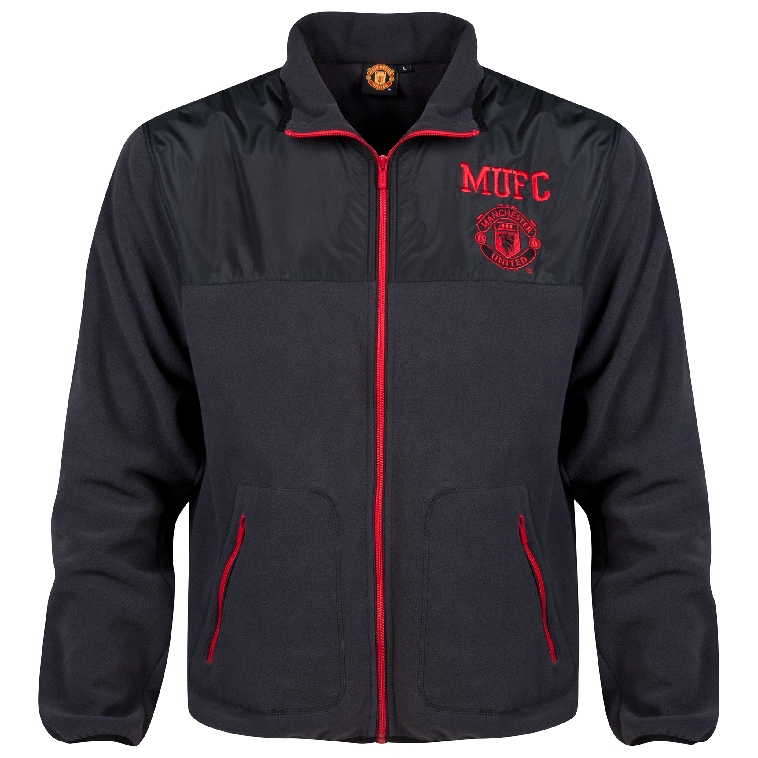 Manchester United Classic Micro Fleece - Charcoal - Mens
