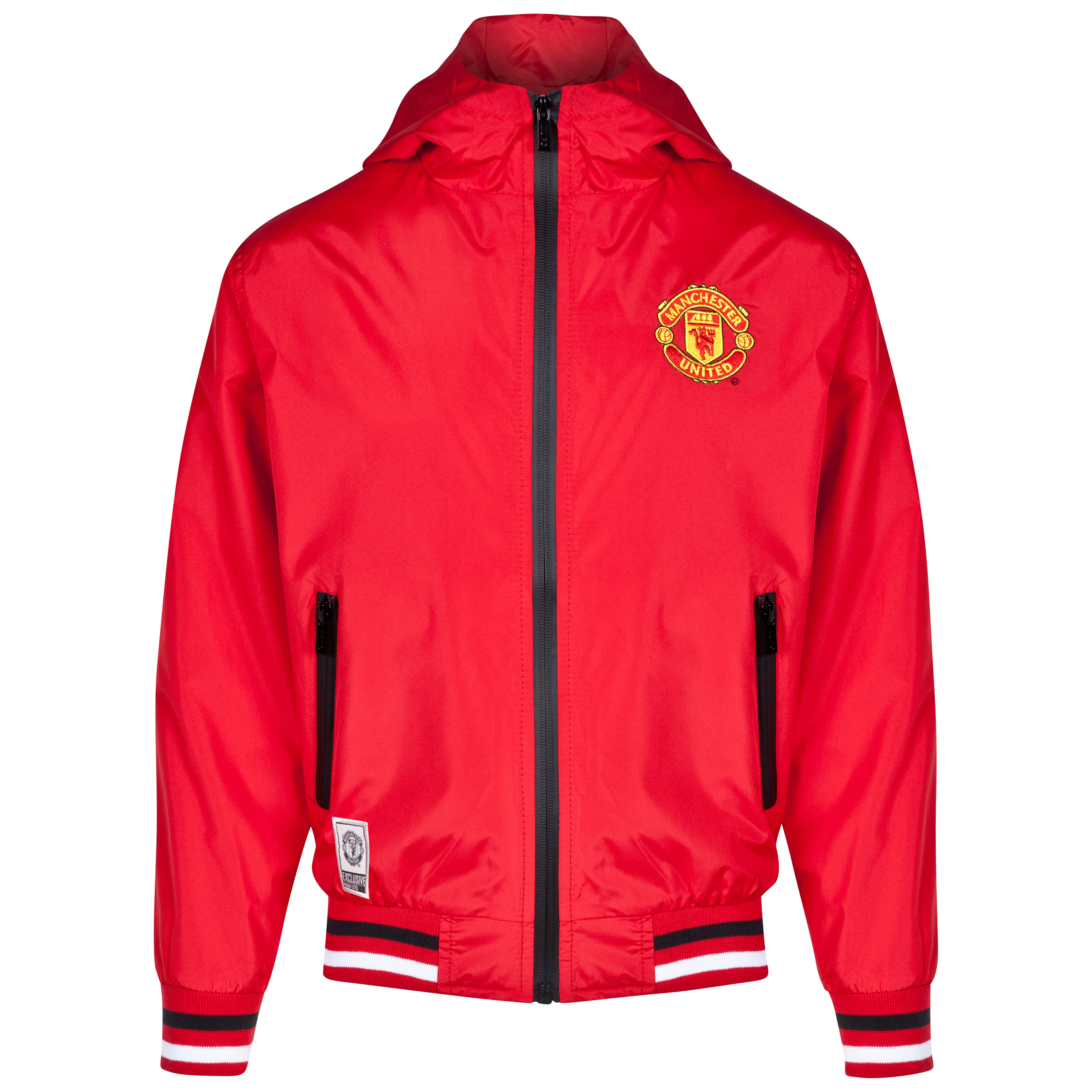 Manchester United Classic Shower Jacket - Red - Older Boys