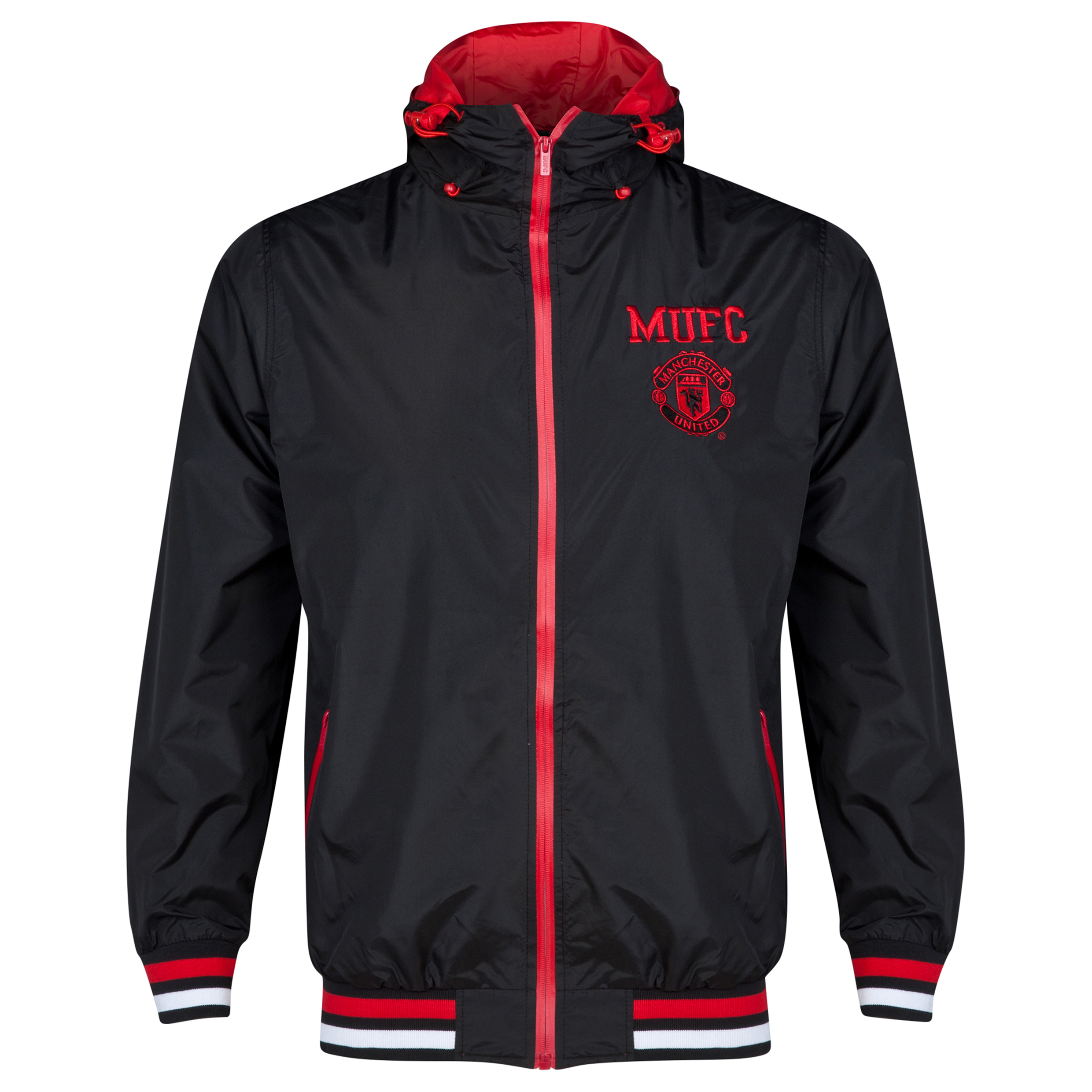 Manchester United Classic Shower Jacket - Black - Mens